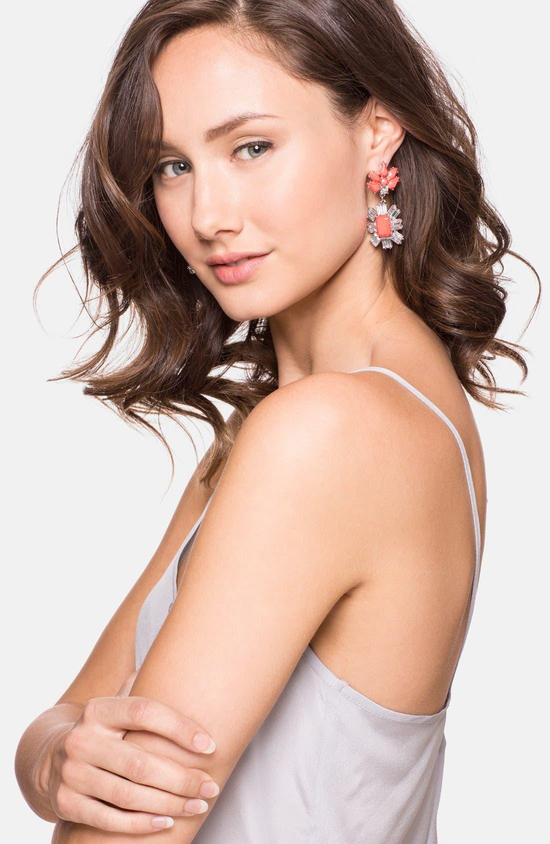 Alternate Image 2  - BaubleBar 'Crystal Meteor' Drop Earrings