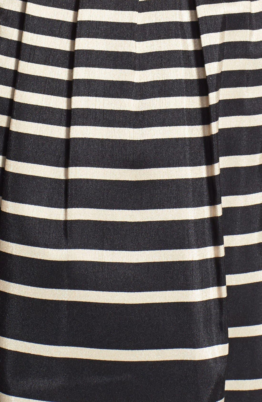 Alternate Image 4  - Taylor Dresses Stripe Shantung Fit & Flare Dress