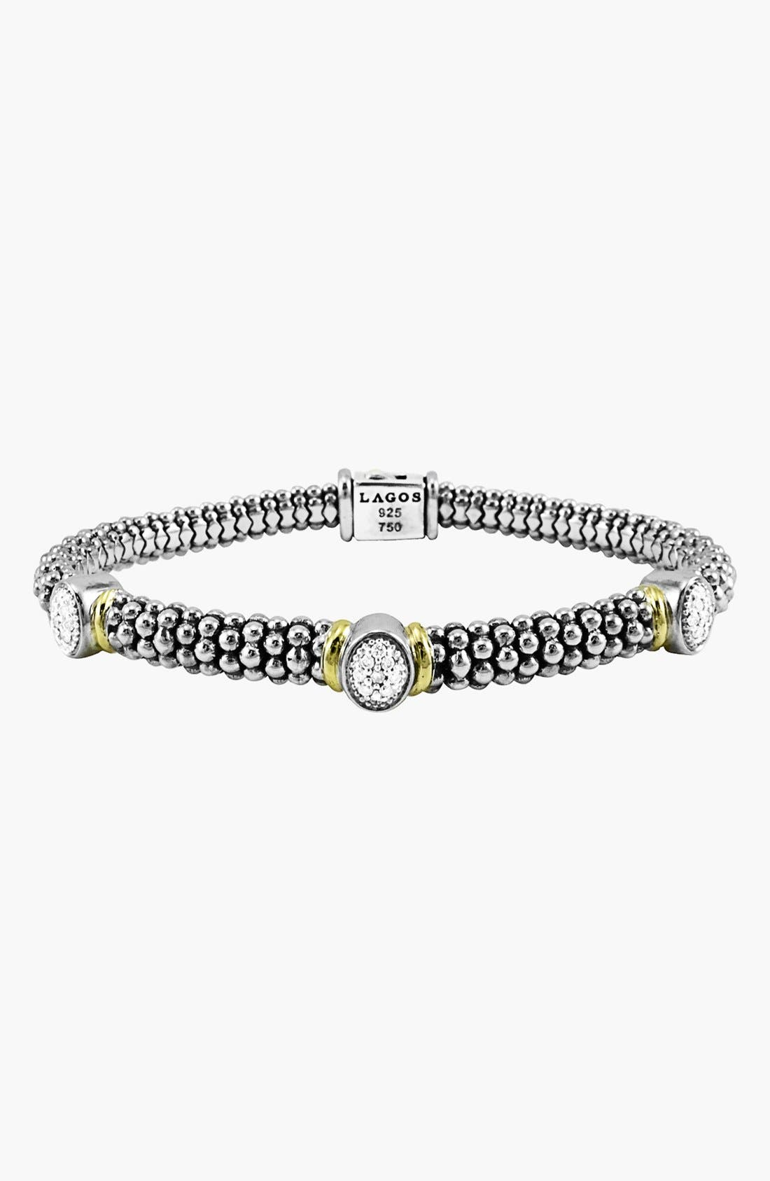 Alternate Image 1 Selected - Lagos 'Twilight' Caviar™ Diamond Rope Bracelet (Online Only)