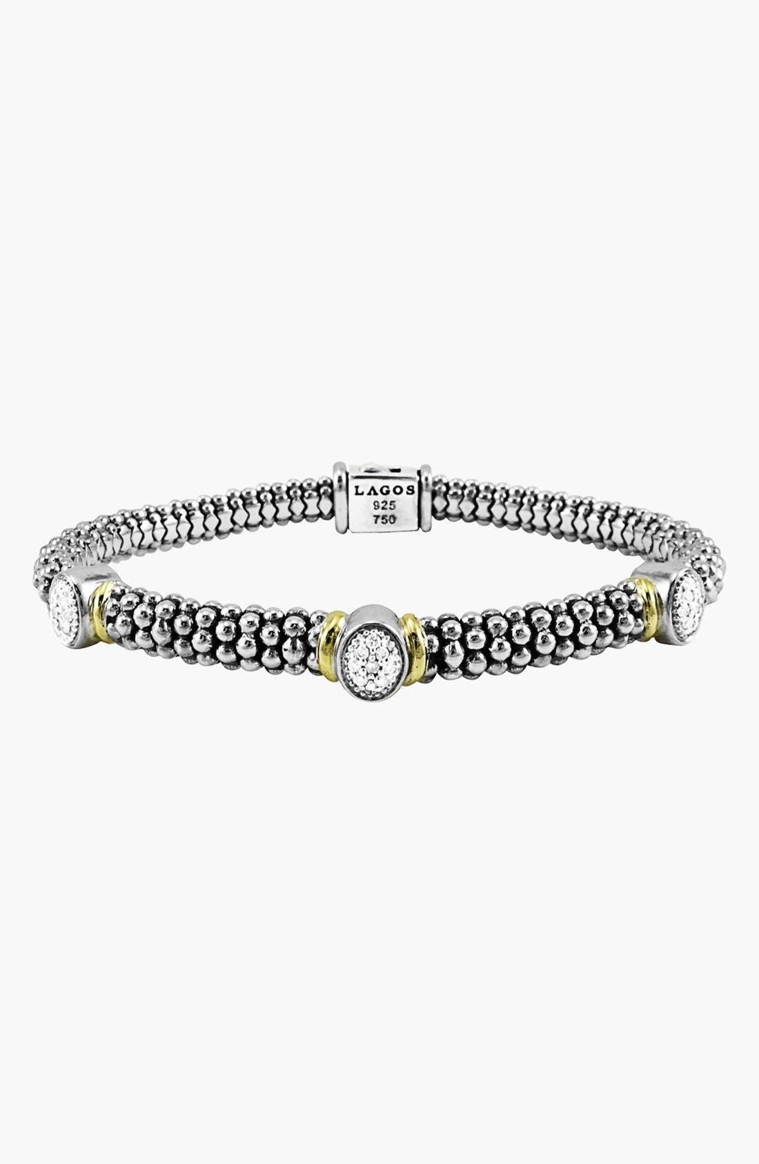 Main Image - Lagos 'Twilight' Caviar™ Diamond Rope Bracelet (Online Only)