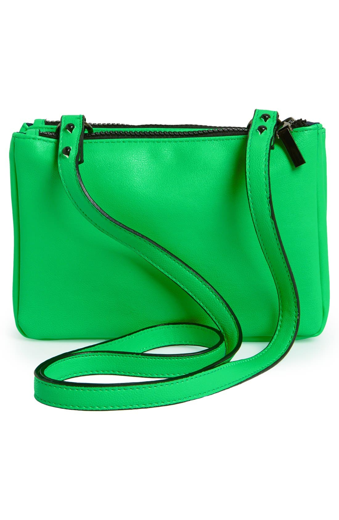 Alternate Image 3  - French Connection 'Mini Gypsy' Faux Leather Crossbody Bag
