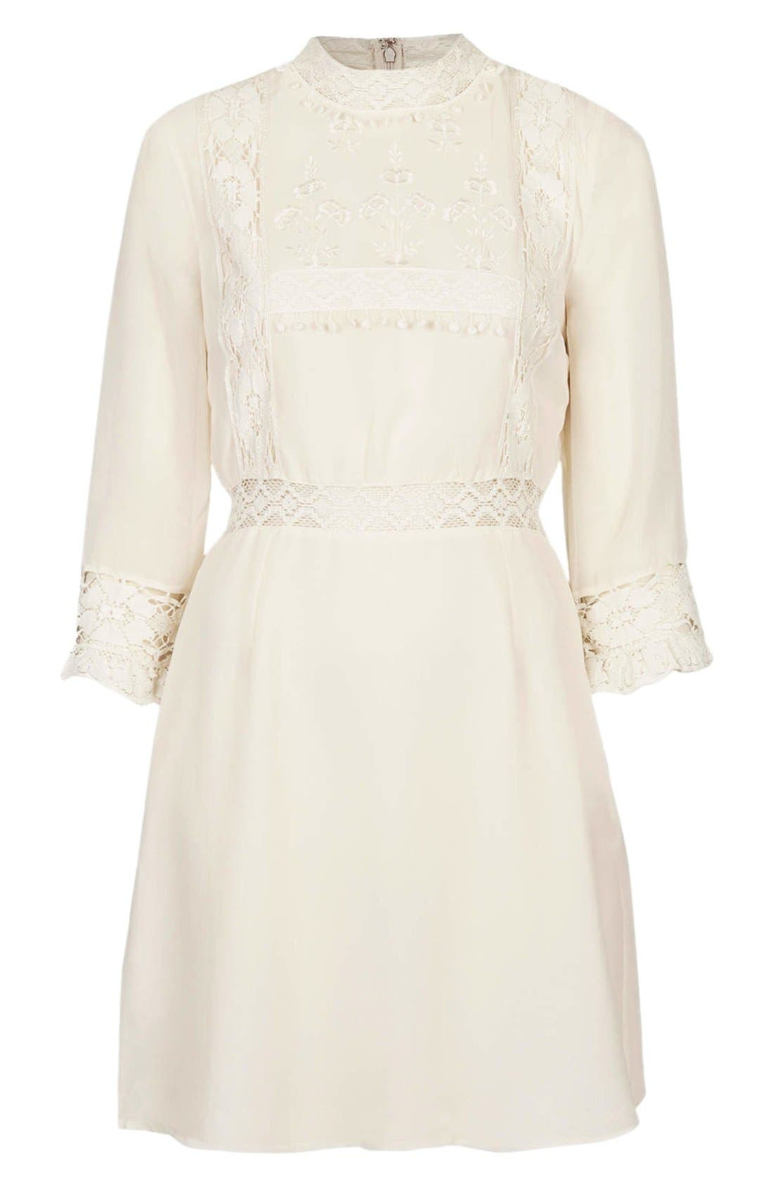 Alternate Image 3  - Topshop 'Victorina' Lace Detail Dress