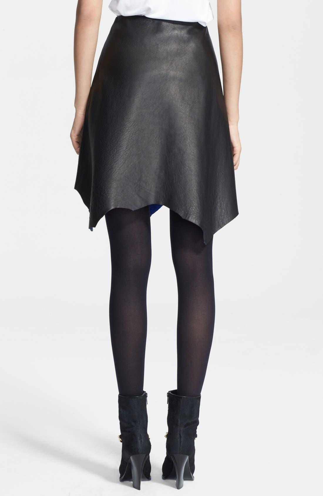 Alternate Image 2  - 3.1 Phillip Lim Raw Hem Leather Skirt