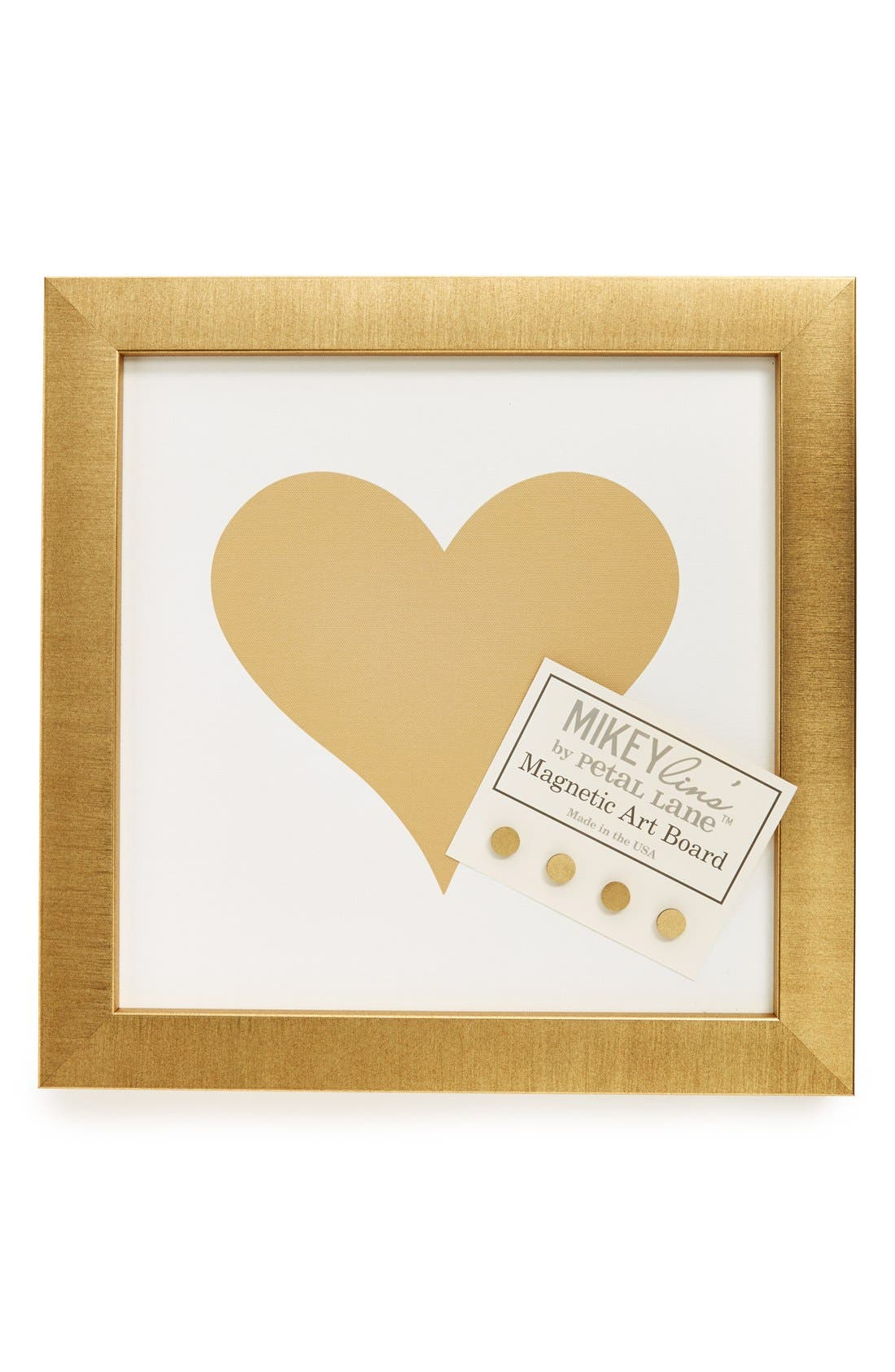 Main Image - Petal Lane 'Heart' Small Framed Magnet Bulletin Board