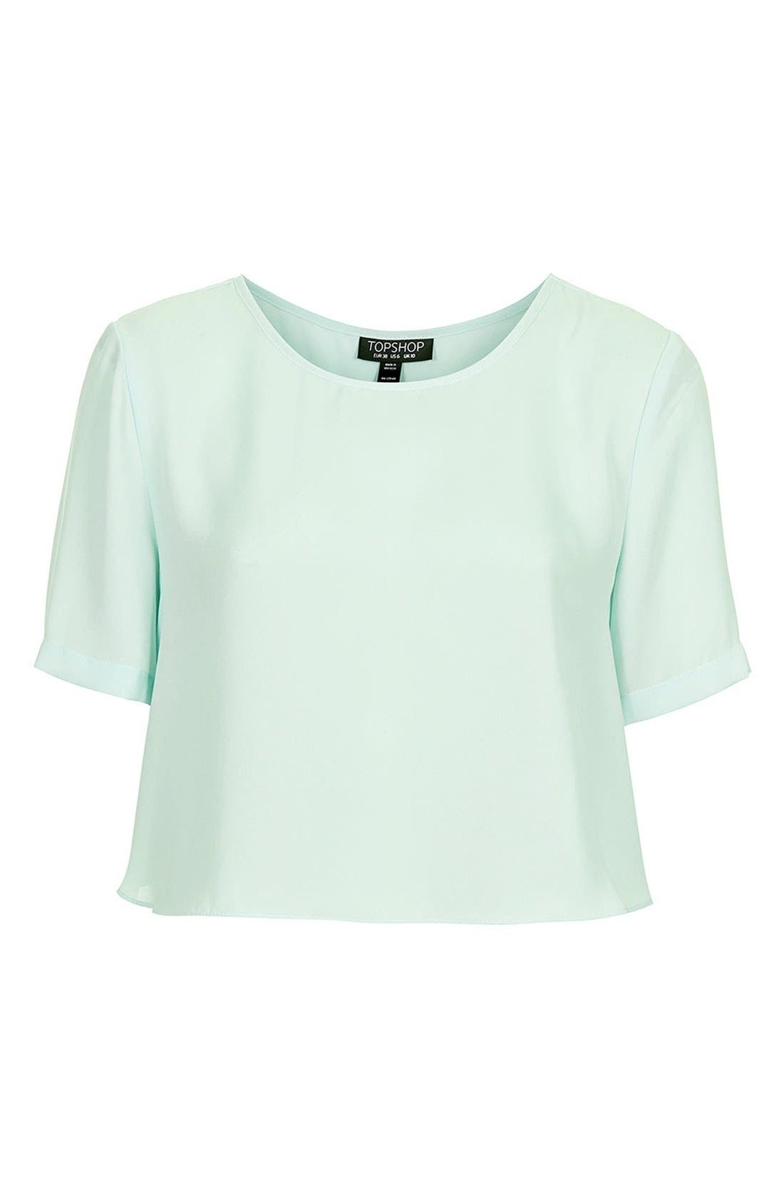 Alternate Image 3  - Topshop 'Pasha' Side Split Crop Tee