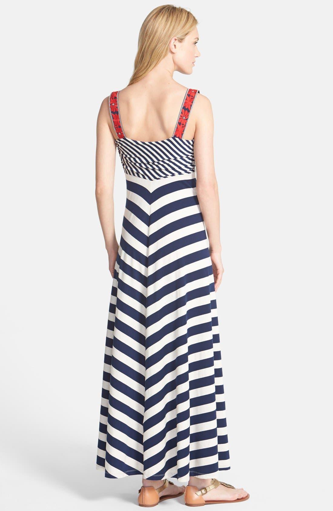 Alternate Image 2  - Lucky Brand Chevron Stripe Maxi Dress