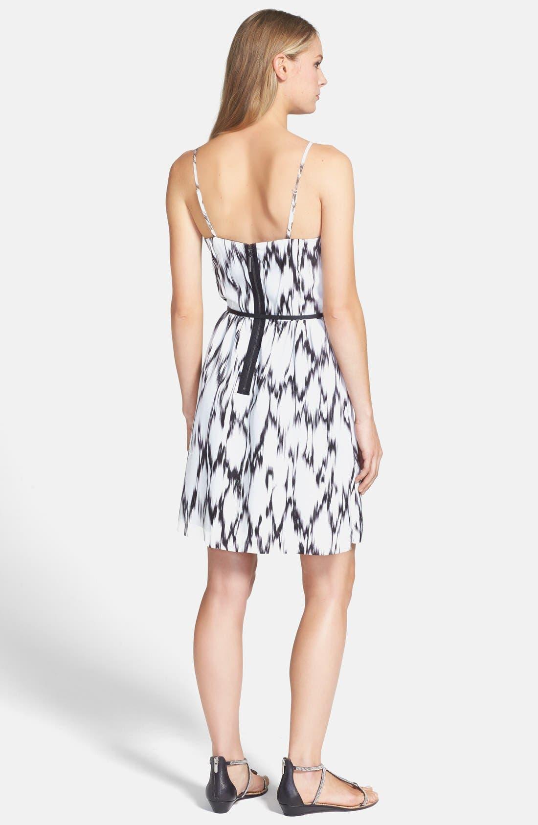 Alternate Image 2  - kensie 'Streaked Spots' Fit & Flare Dress