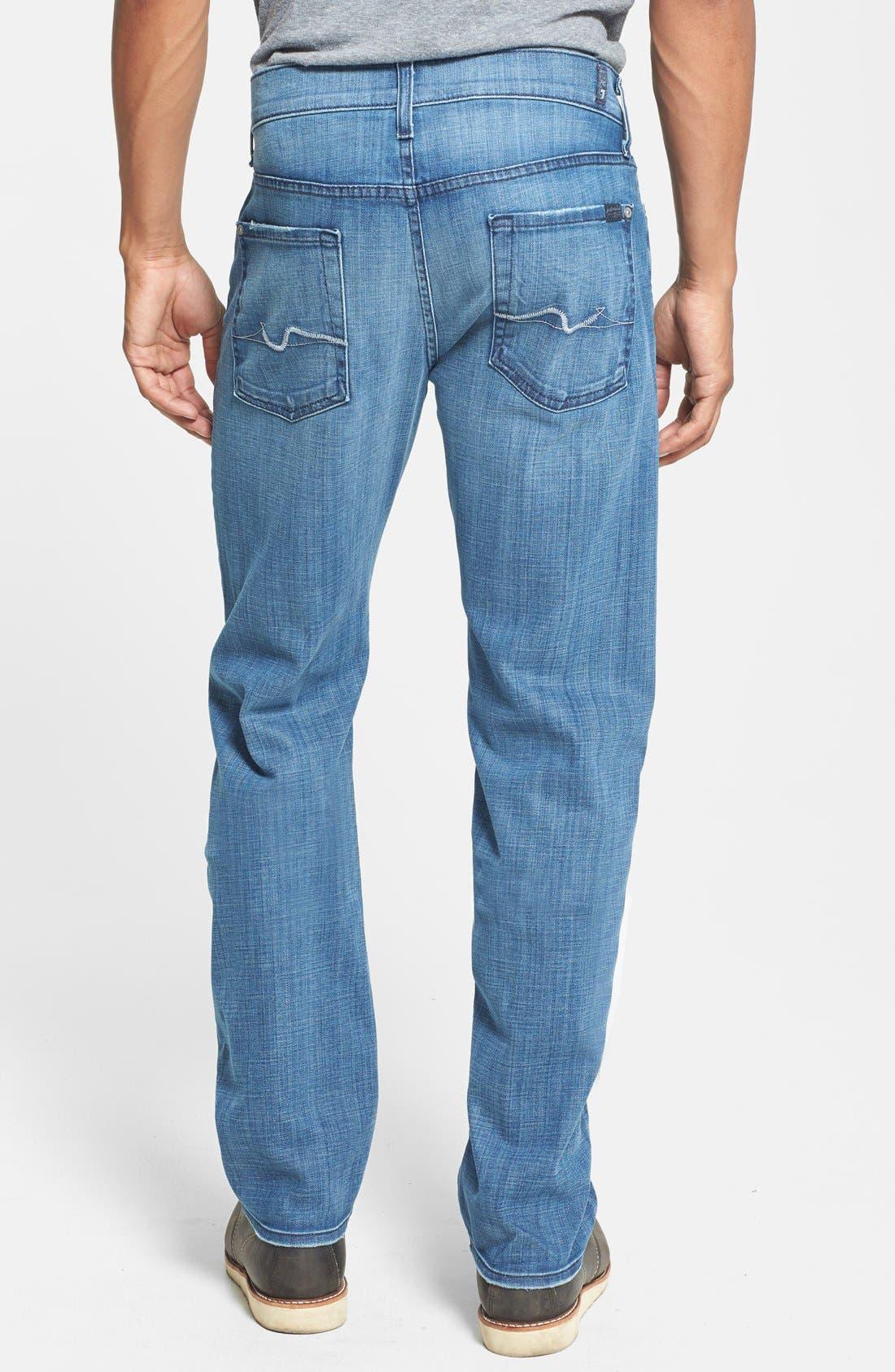 Alternate Image 2  - 7 For All Mankind® 'Slimmy' Slim Straight Leg Jeans (Blue Stone)