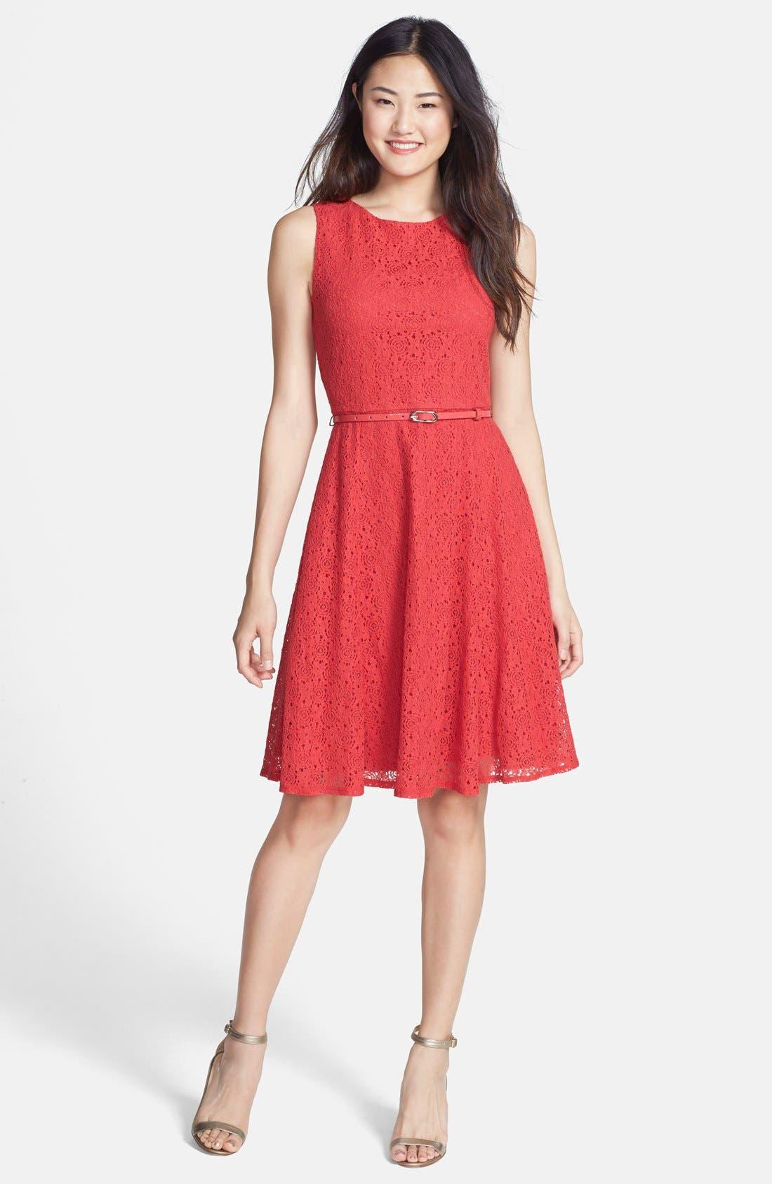 Main Image - wallis Lace Fit & Flare Dress