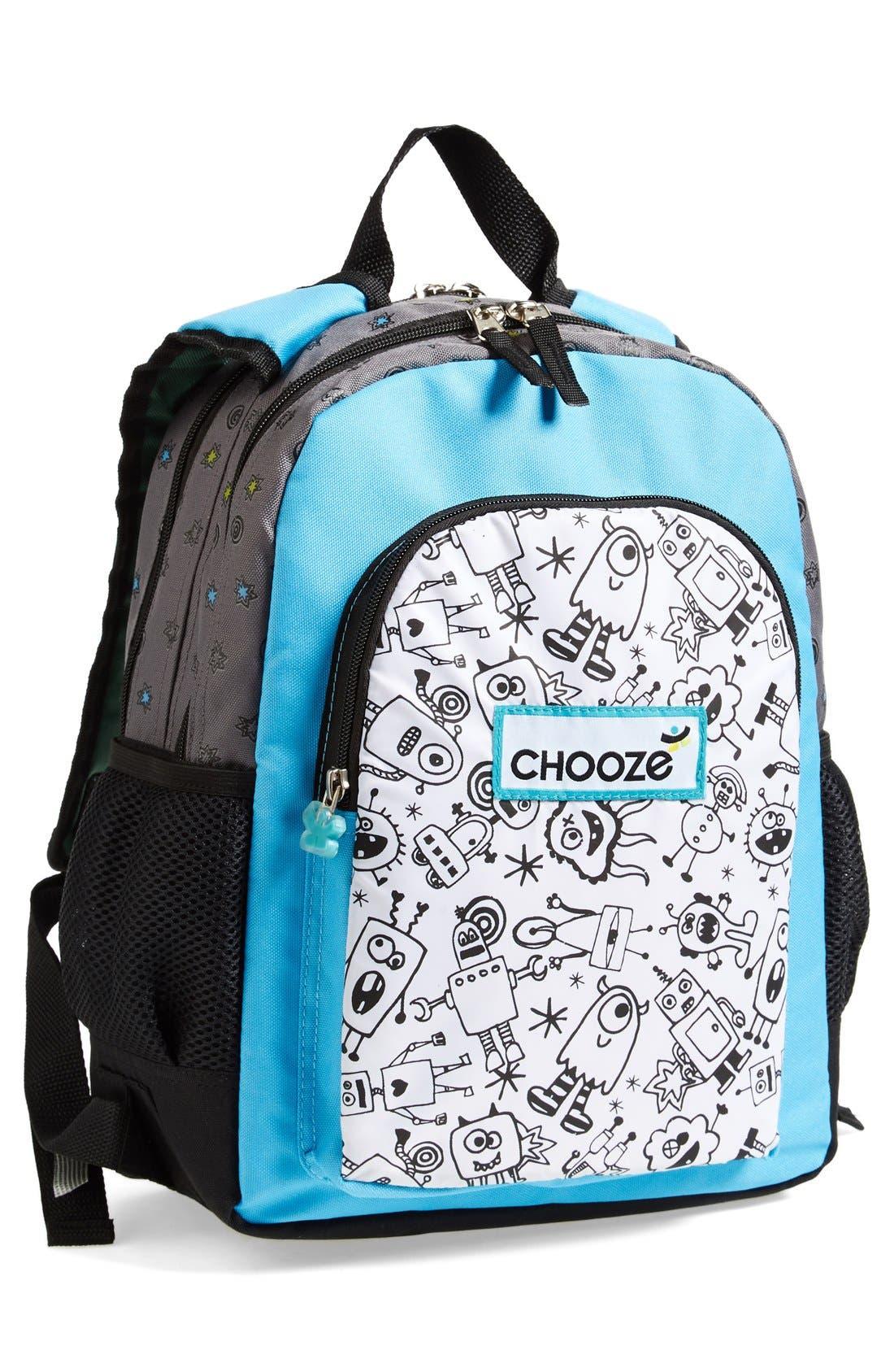 Alternate Image 1 Selected - CHOOZE Reversible Backpack (Kids)