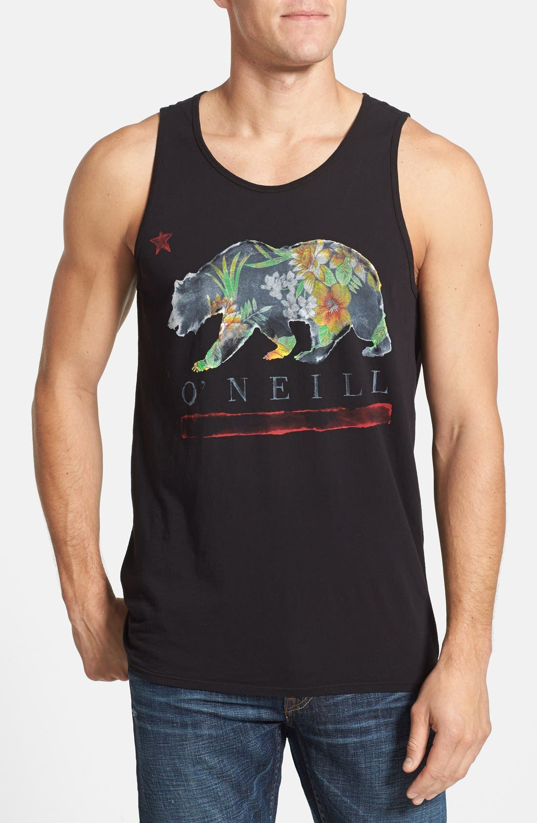 Main Image - Jack O'Neill 'Golden' Graphic Tank Top