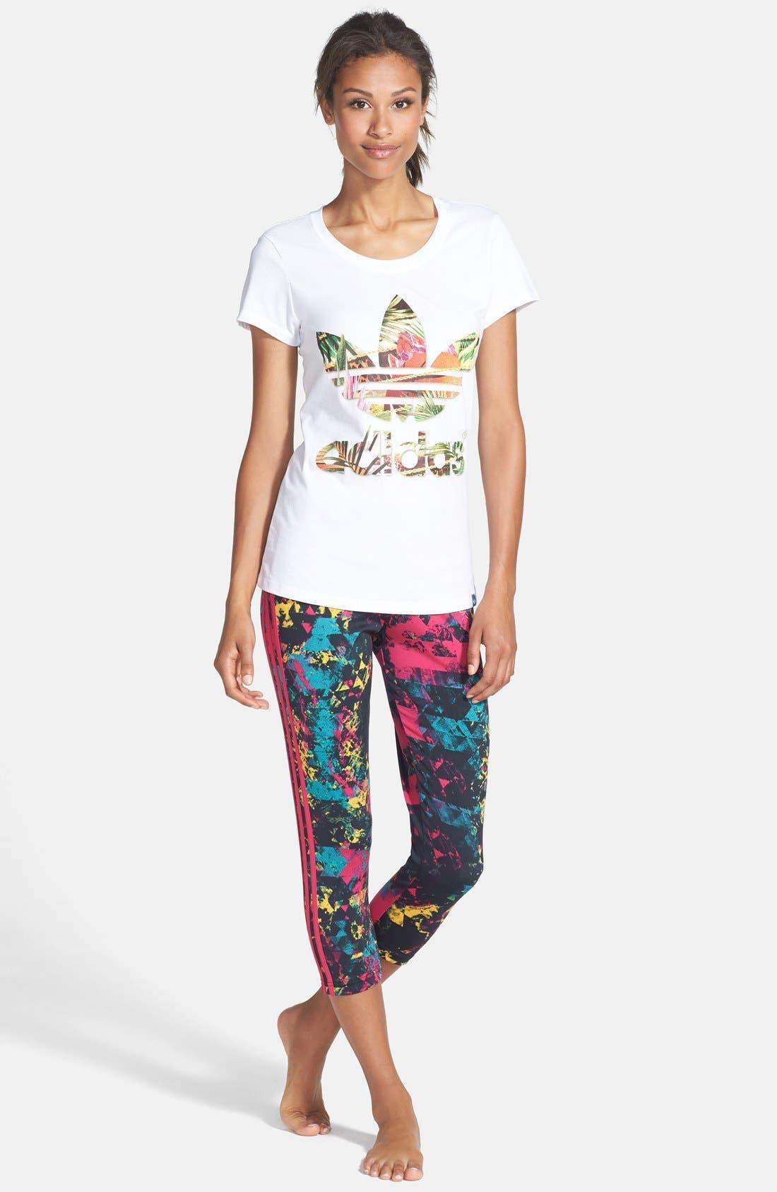Alternate Image 3  - adidas Originals Graphic Flower Trefoil Tee