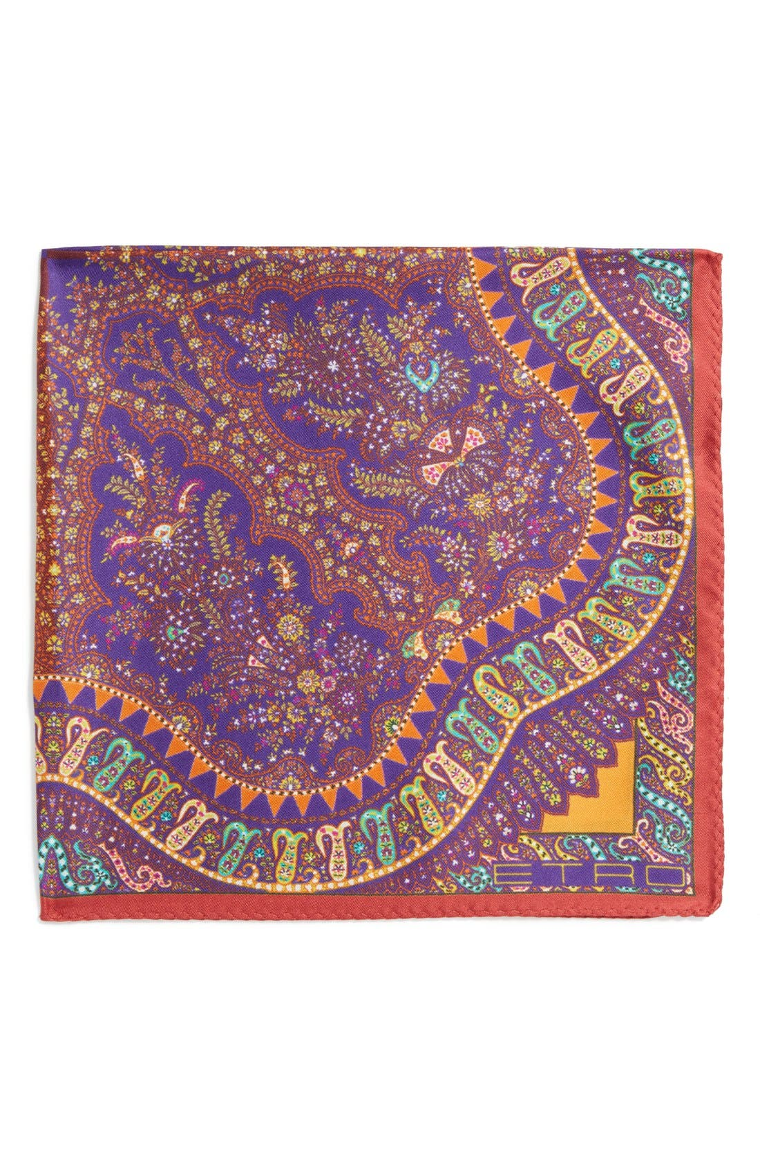 Main Image - Etro Print Silk Pocket Square