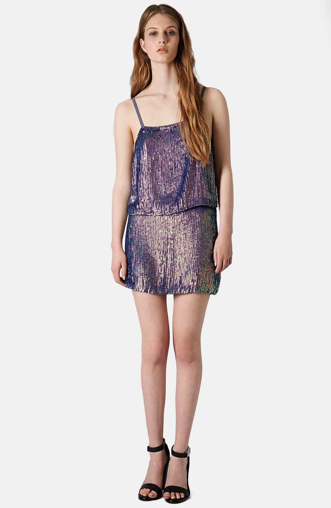 Alternate Image 4  - Topshop Sequin Miniskirt