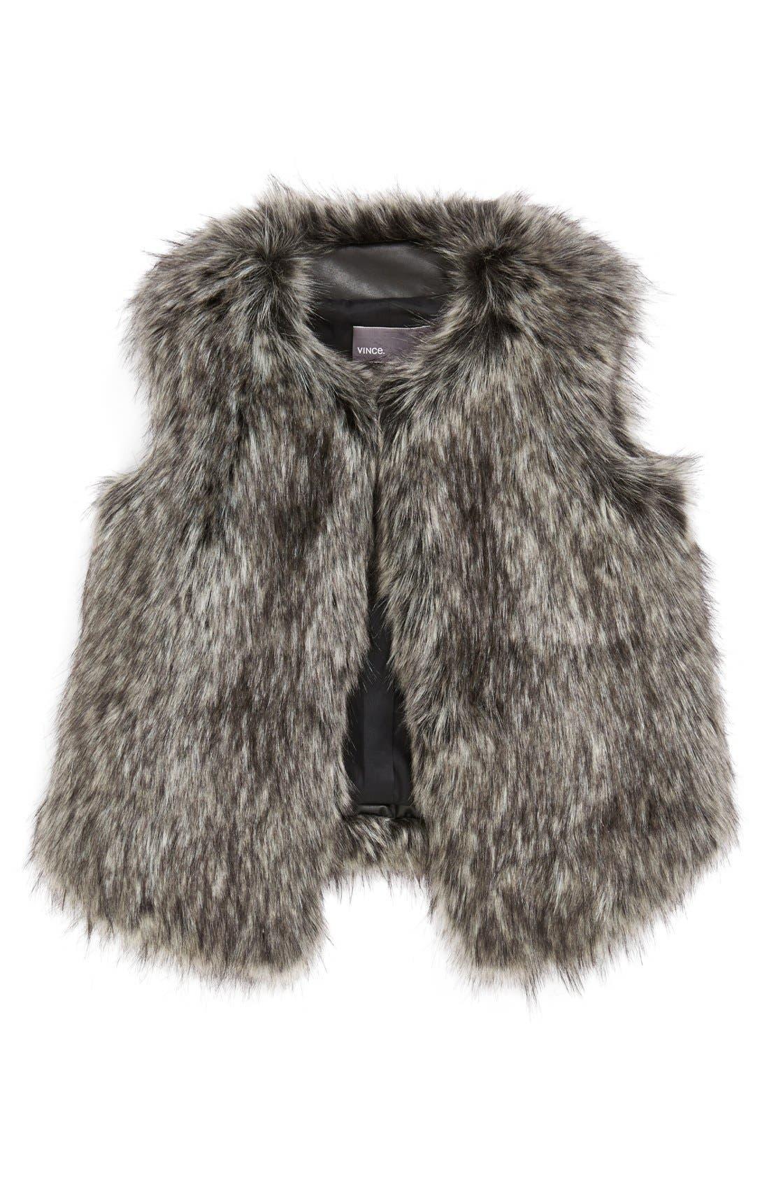 Alternate Image 1 Selected - Vince Faux Fur Vest (Big Girls)