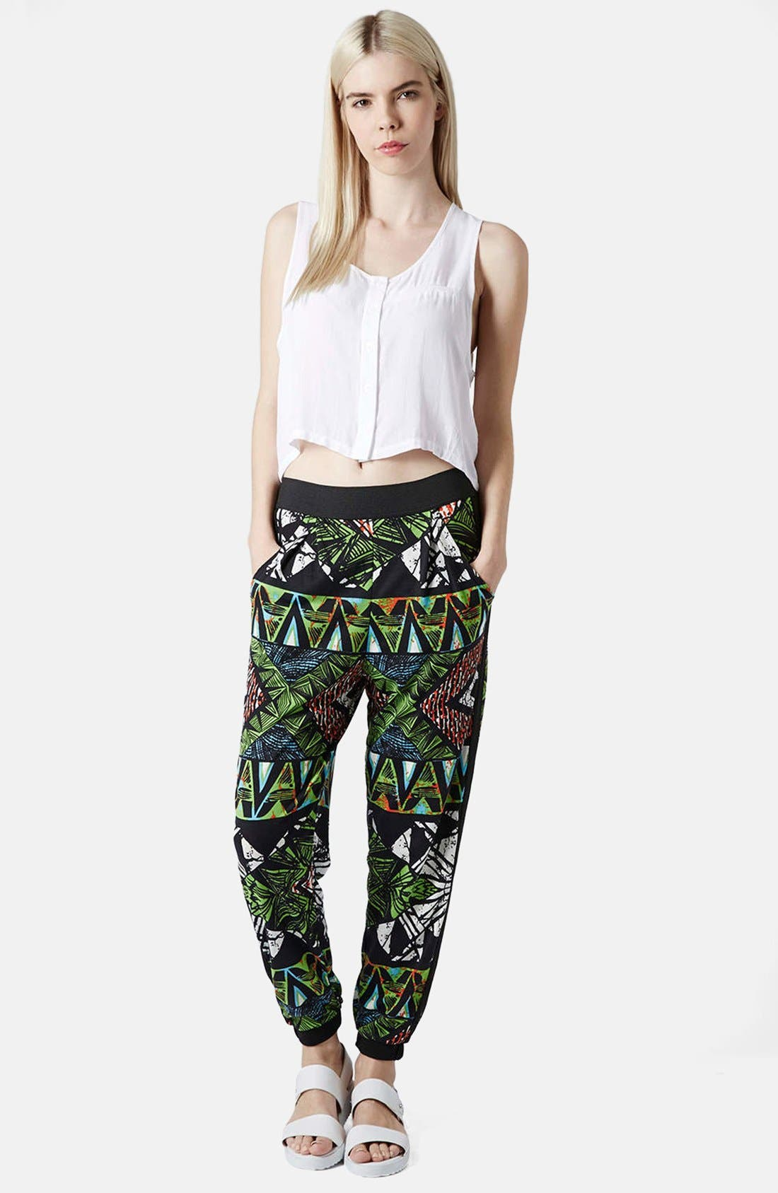 Alternate Image 5  - Topshop Geo Print Track Pants