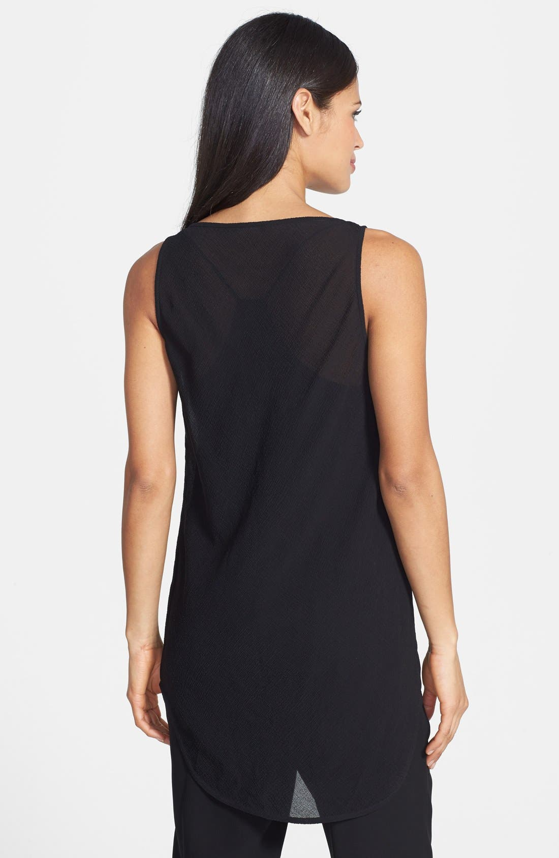 Alternate Image 2  - Eileen Fisher The Fisher Project Long Crinkled Silk Scoop Neck Tank