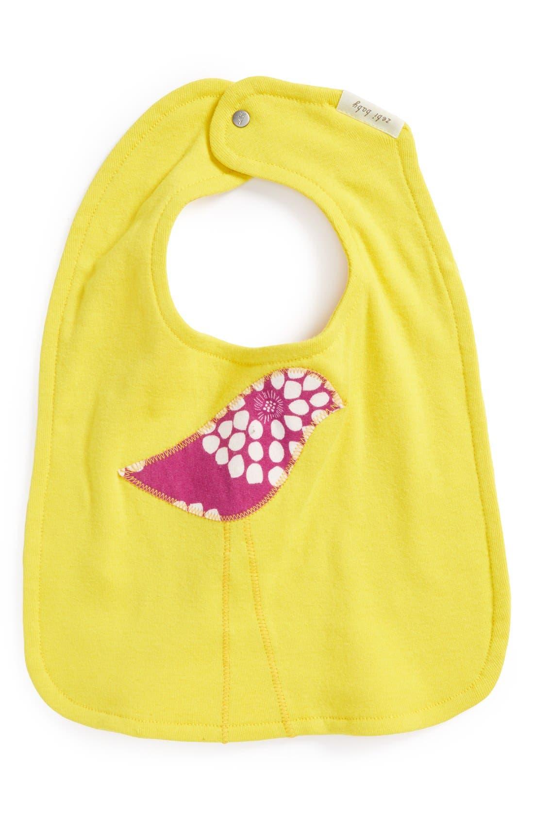 Main Image - Zebi Baby Organic Cotton Bib