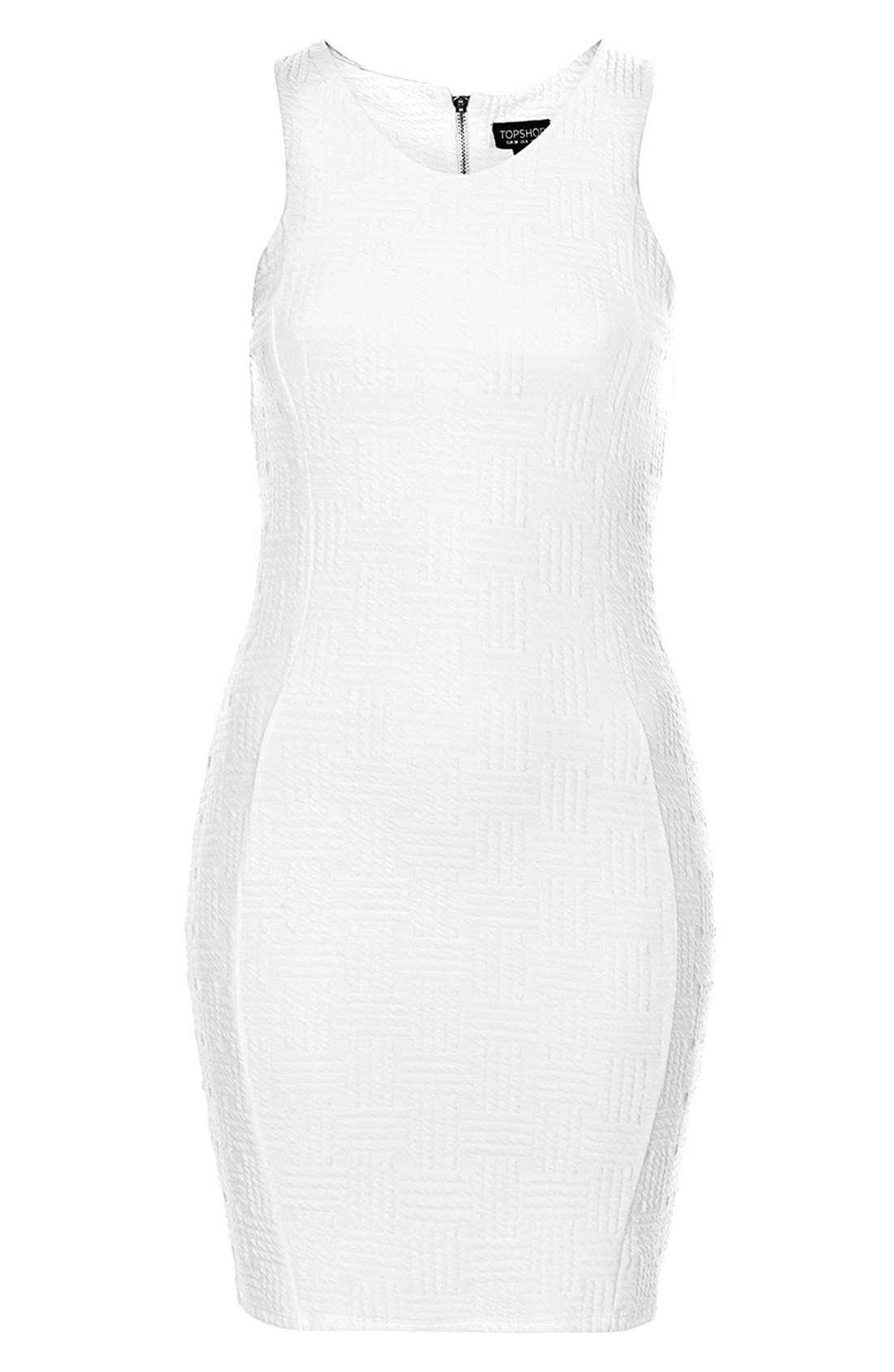 Alternate Image 2  - Topshop Jacquard Body-Con Dress (Petite)
