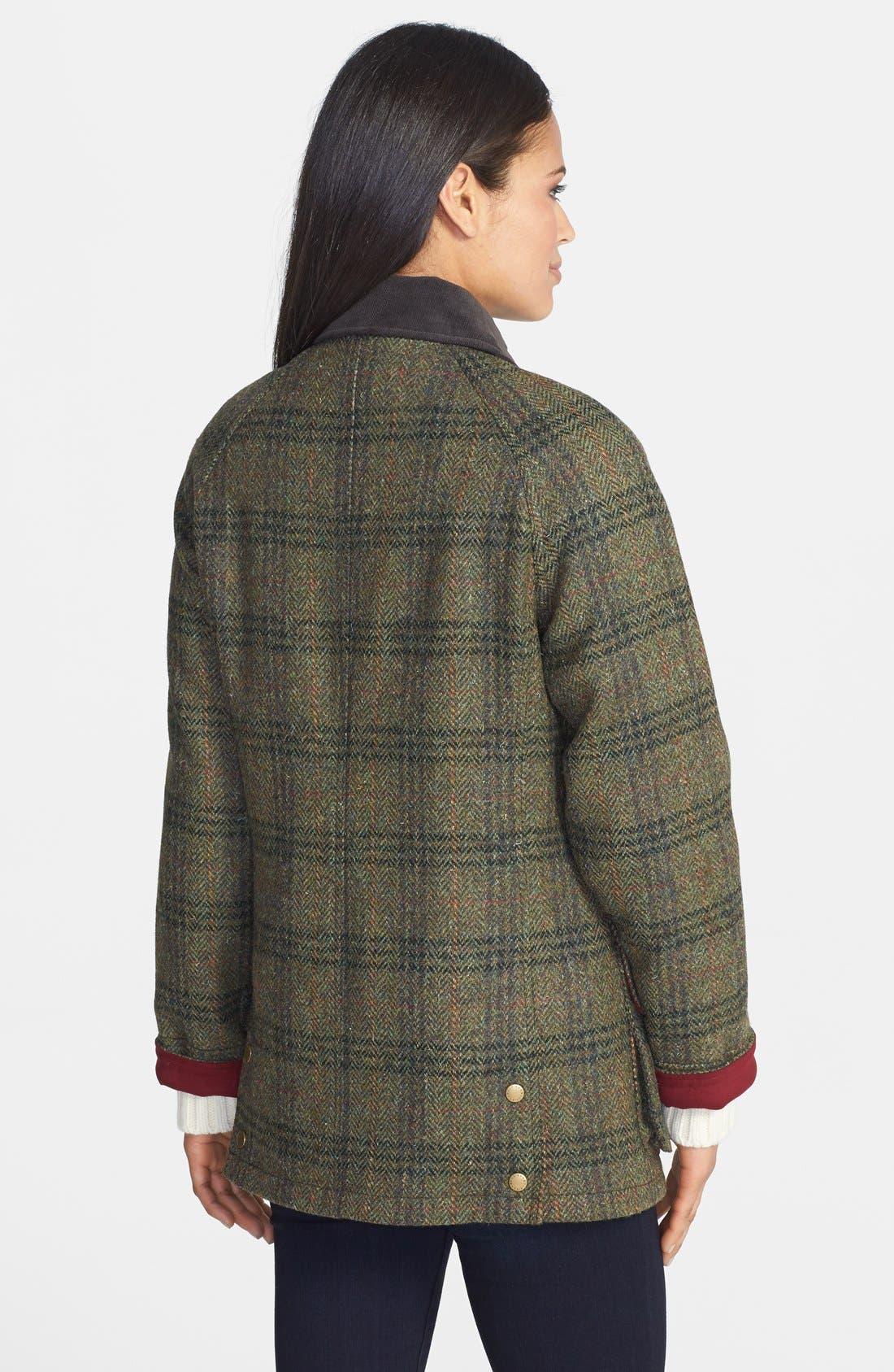 Alternate Image 2  - Barbour 'Beadnell - Edworth Tweed' Plaid Wool Coat
