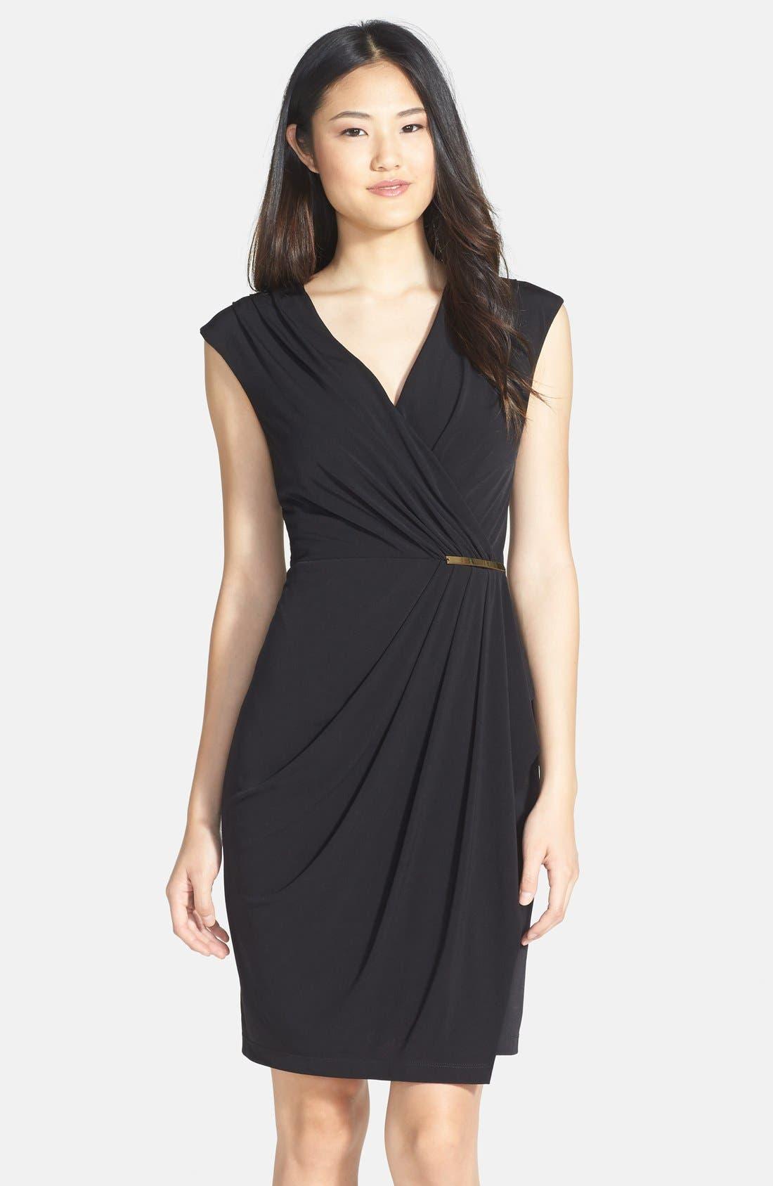 Alternate Image 1 Selected - Ivy & Blu Side Gather Jersey Dress