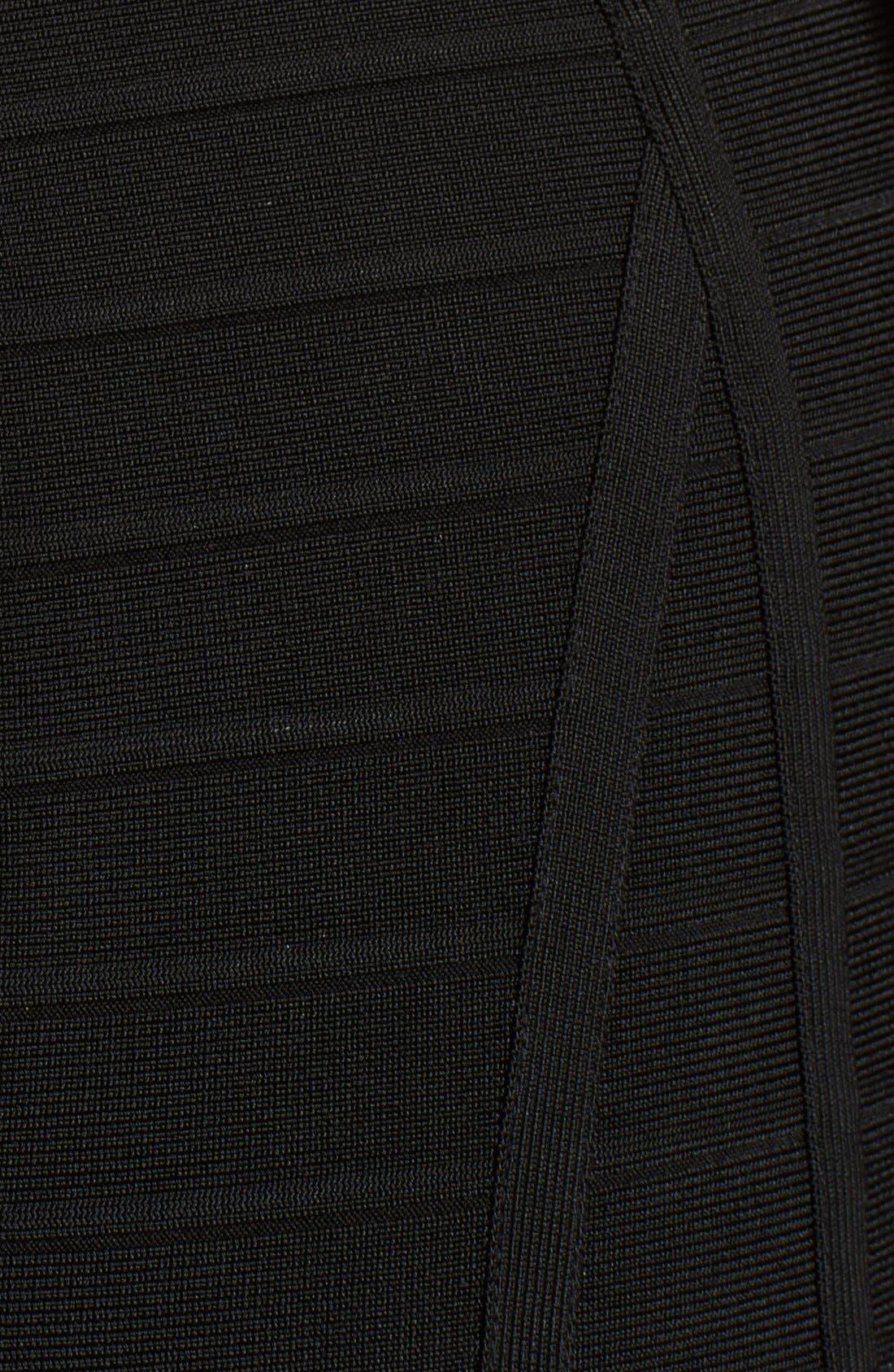 Alternate Image 3  - Herve Leger Chain Detail Flared Bandage Dress