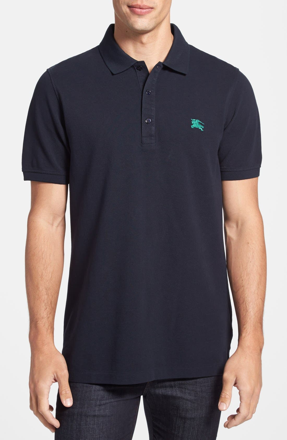 Main Image - Burberry Brit 'Phillipson' Trim Fit Piqué Polo