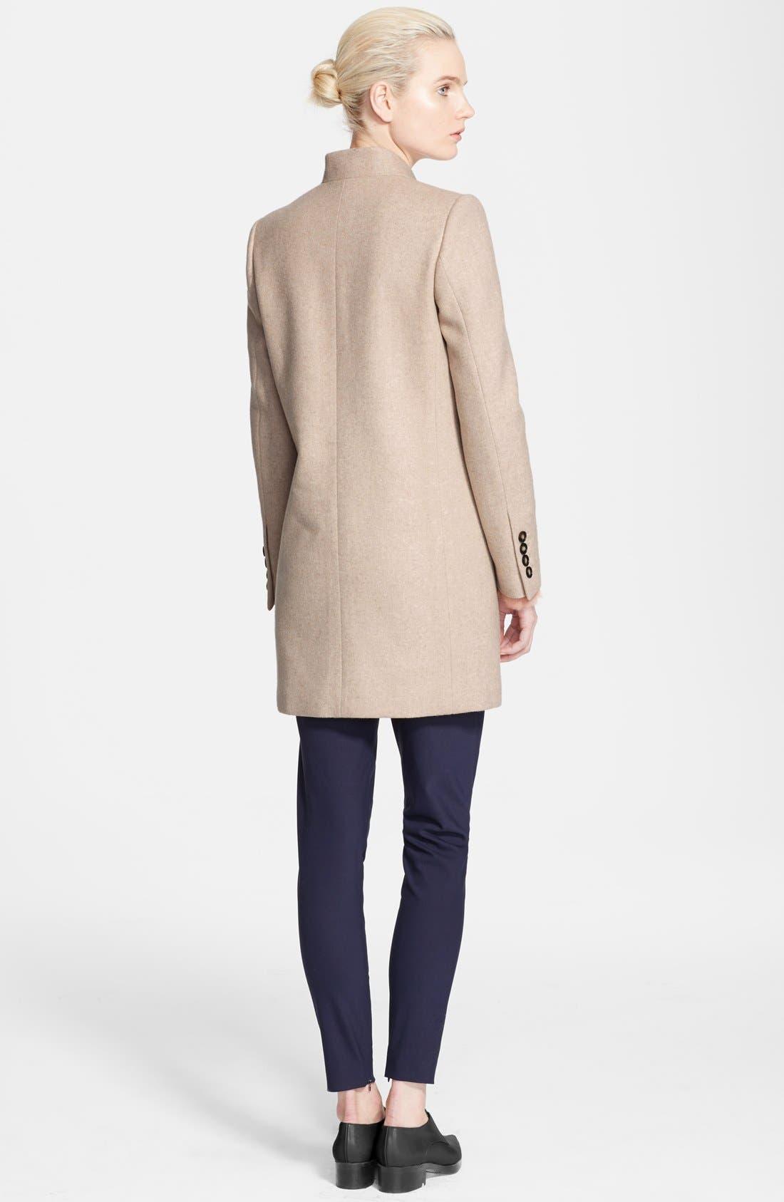 Alternate Image 3  - Stella McCartney Mélange Melton Wool Blend Coat
