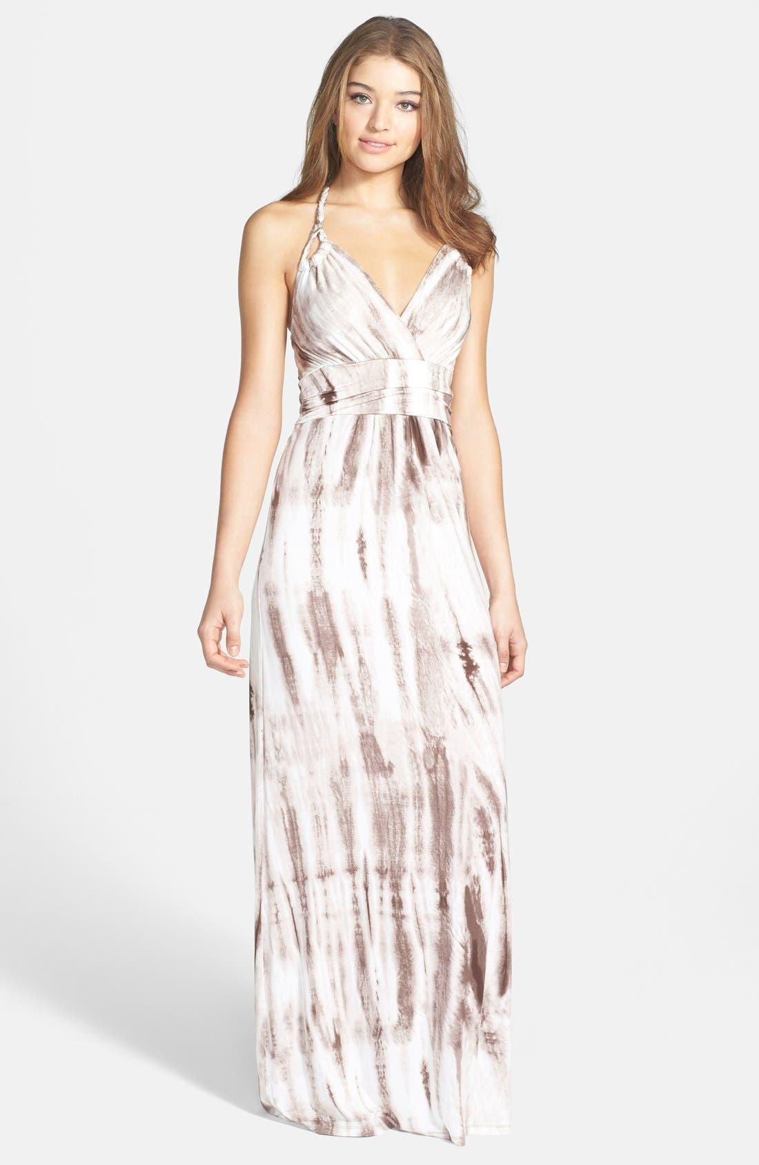 Main Image - Felicity & Coco Tie Dye Jersey Halter Maxi Dress (Nordstrom Exclusive)
