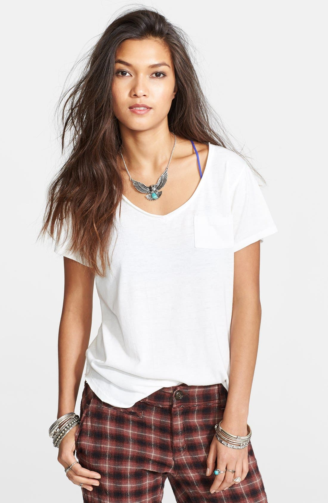 Alternate Image 1 Selected - Free People 'Wildfire' V-Neck Tee
