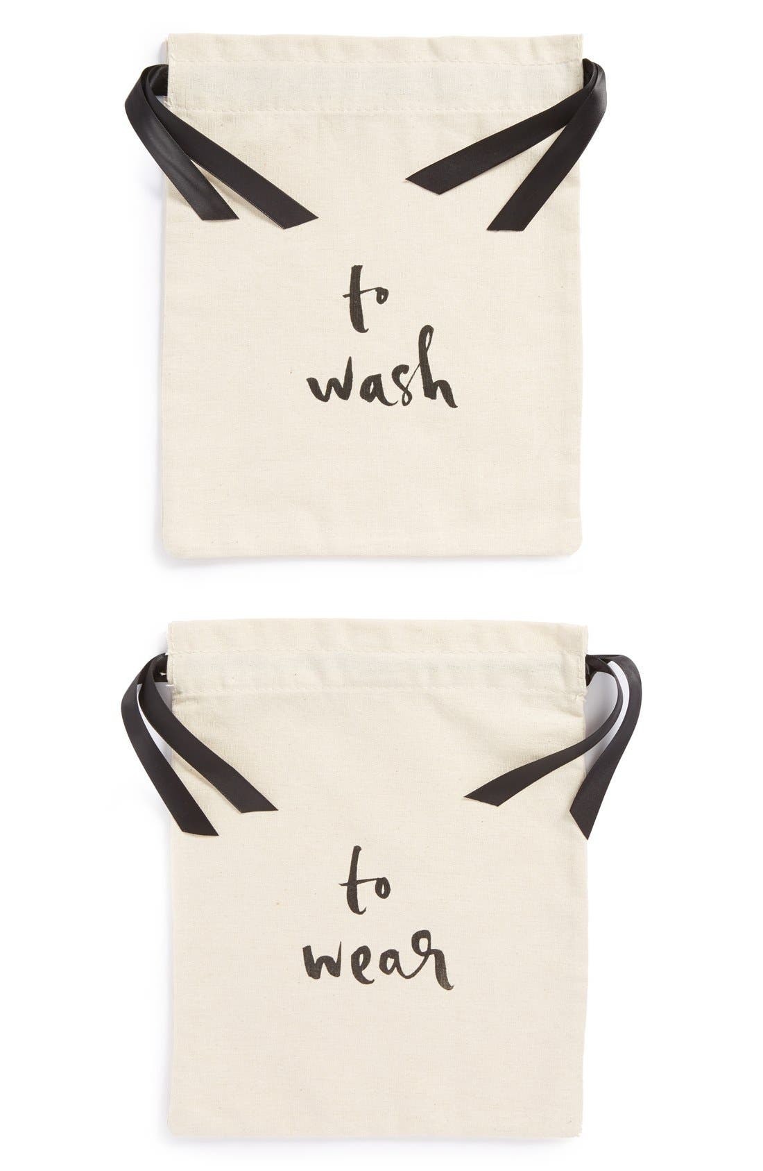 Alternate Image 1 Selected - kate spade new york 'wash and wear' lingerie bag set