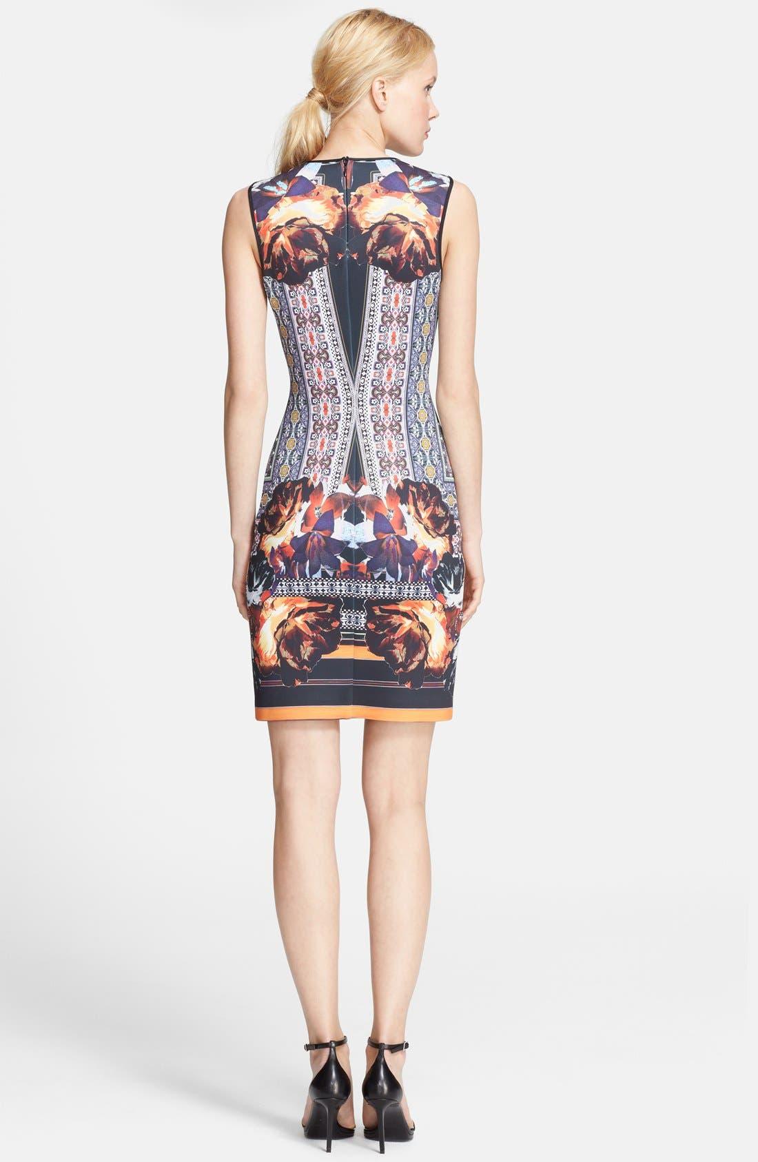 Alternate Image 2  - Clover Canyon 'Irish Box' Print Neoprene Sheath Dress