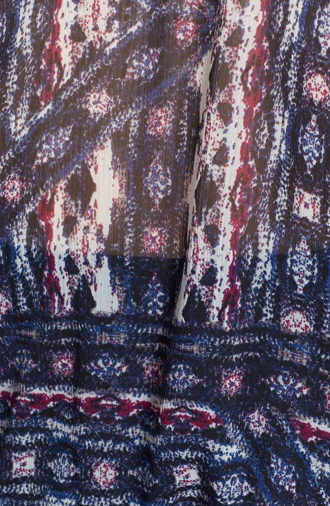 Alternate Image 3  - Vince Camuto 'Tribal' Print Tie Front Blouse (Plus Size)