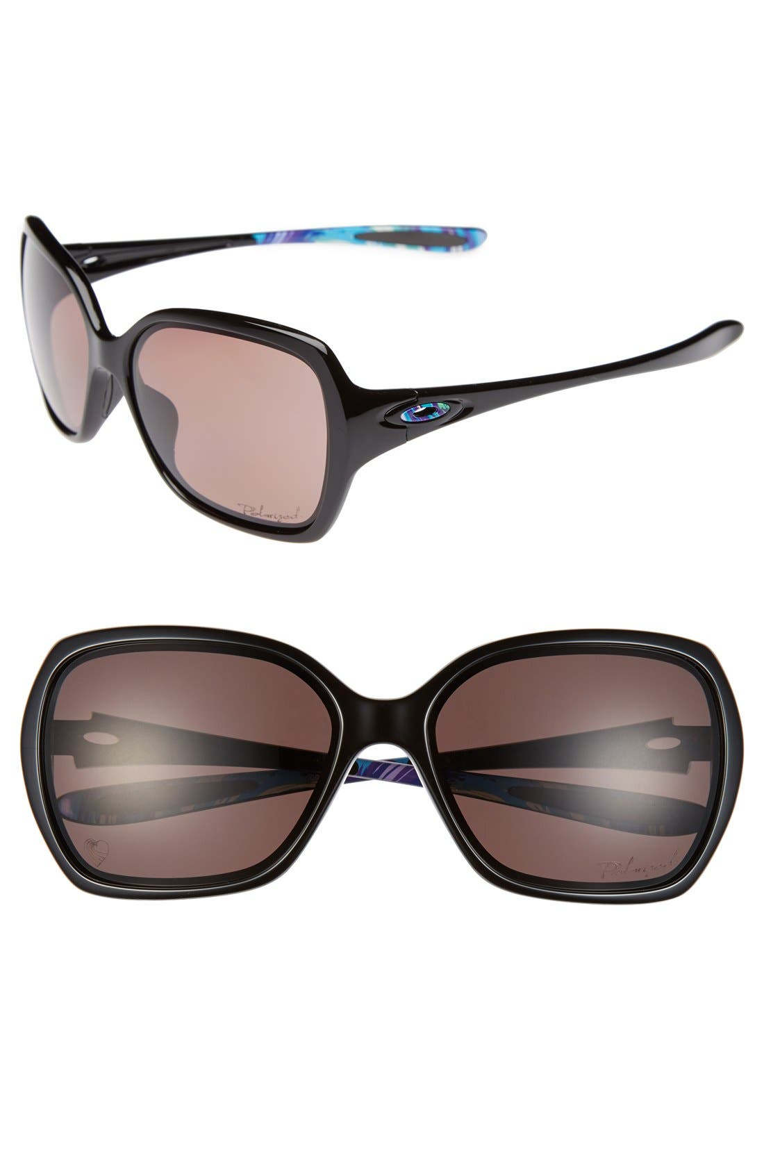 Alternate Image 1 Selected - Oakley 'Overtime - Karena' 59mm Polarized Sunglasses