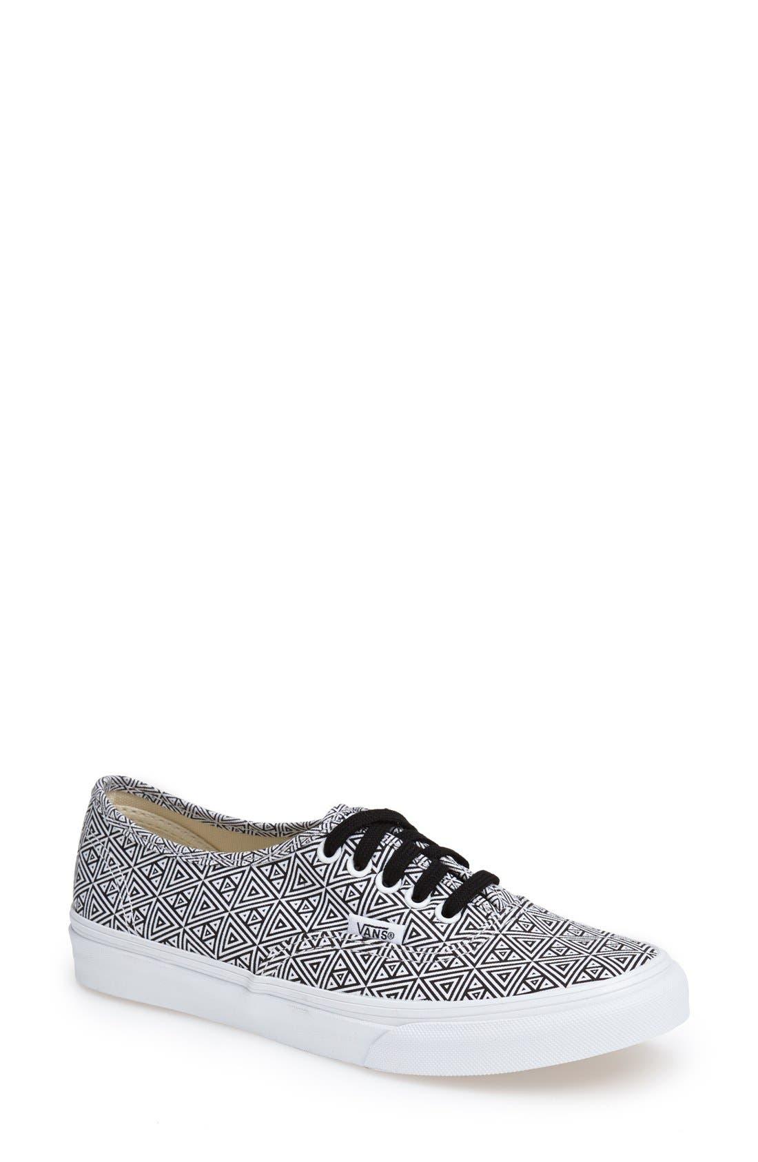 Alternate Image 1 Selected - Vans 'Authentic Slim' Geo Print Sneaker (Women)