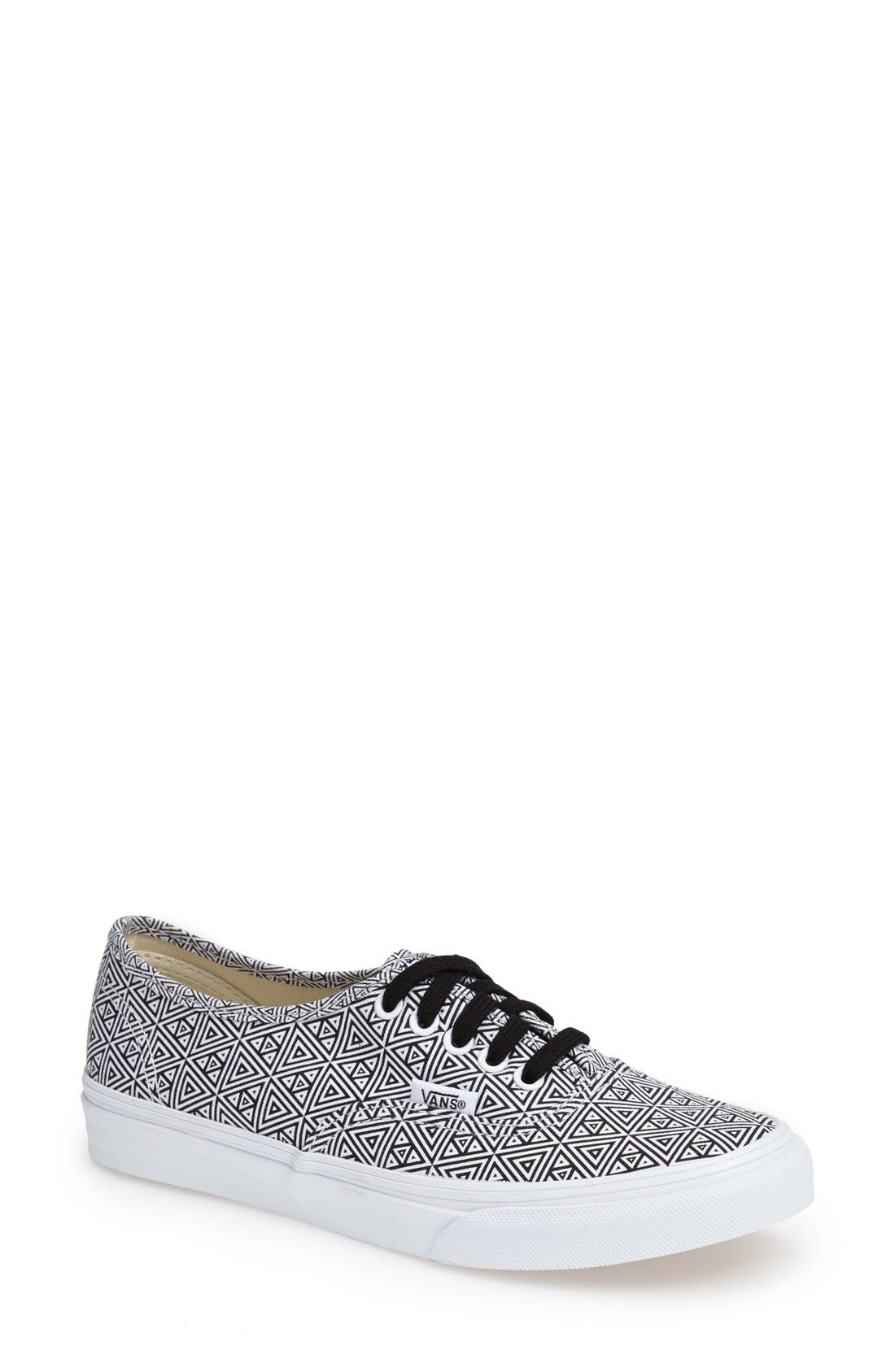 Main Image - Vans 'Authentic Slim' Geo Print Sneaker (Women)