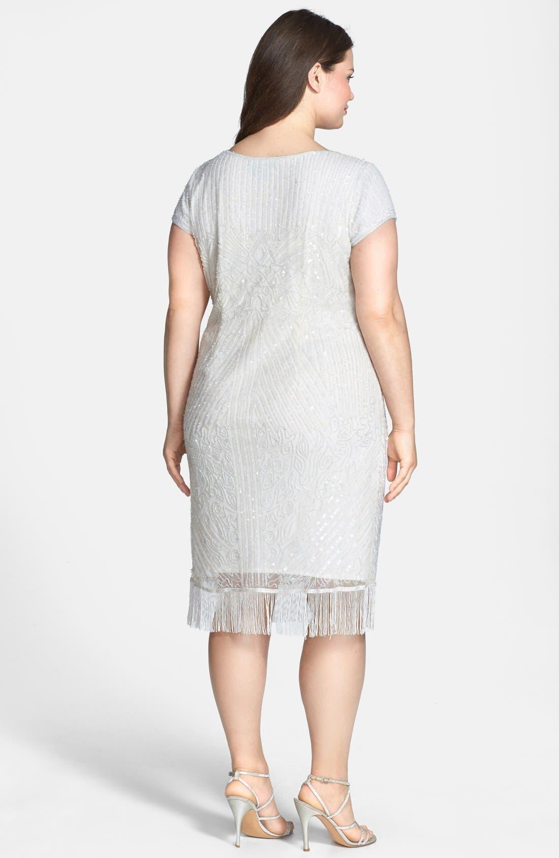 Alternate Image 2  - Pisarro Nights Embellished Dress (Plus Size)