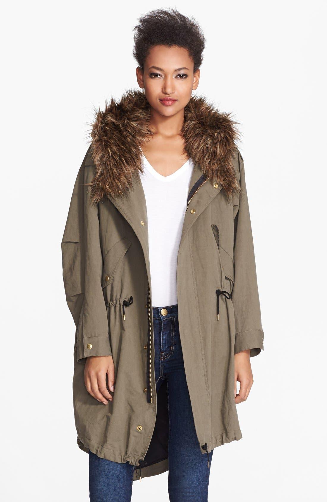 Alternate Image 1 Selected - Smythe Oversized Anorak with Faux Fur Hood