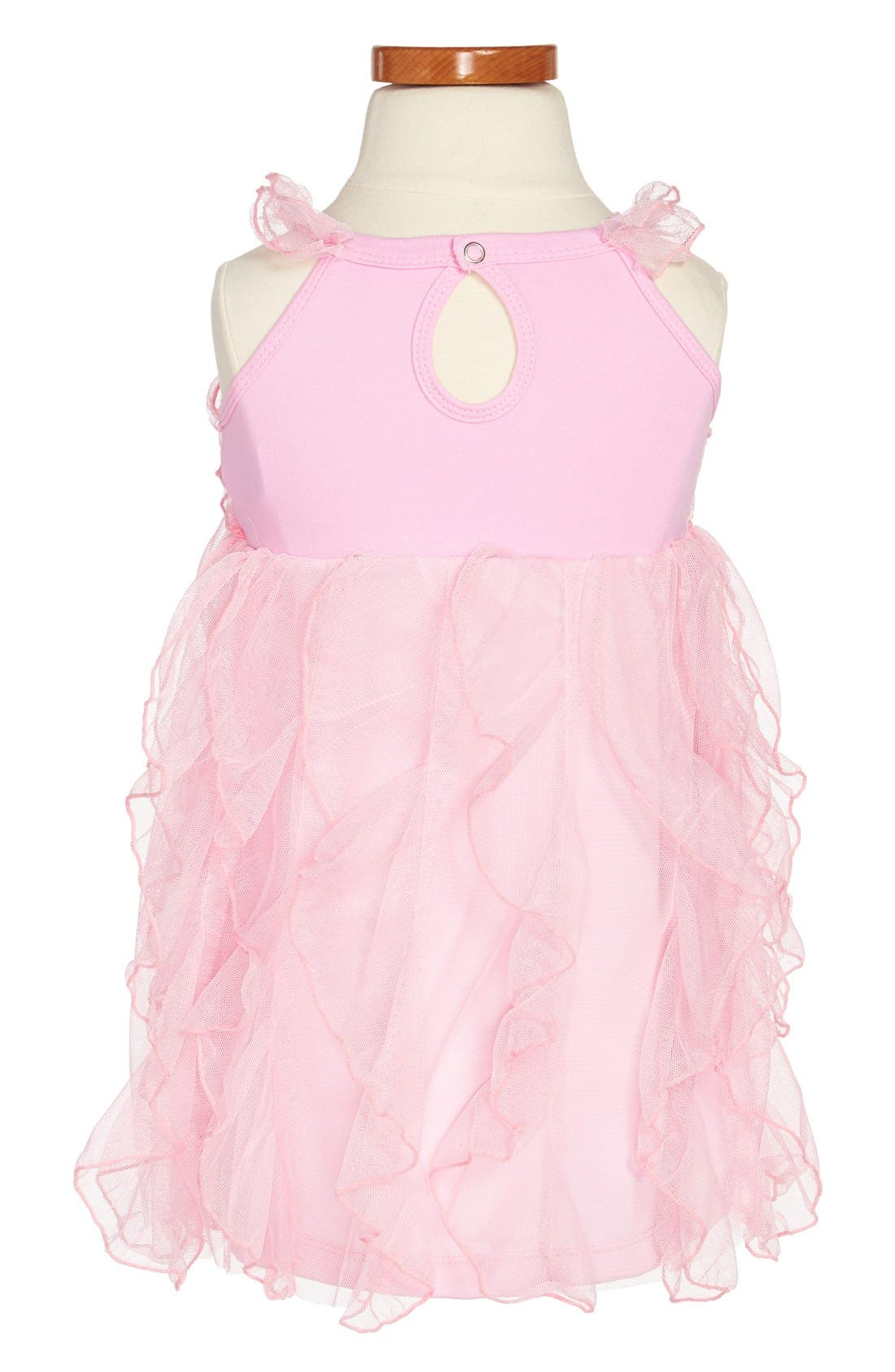 Alternate Image 2  - Popatu Ruffle Dress (Toddler Girls)