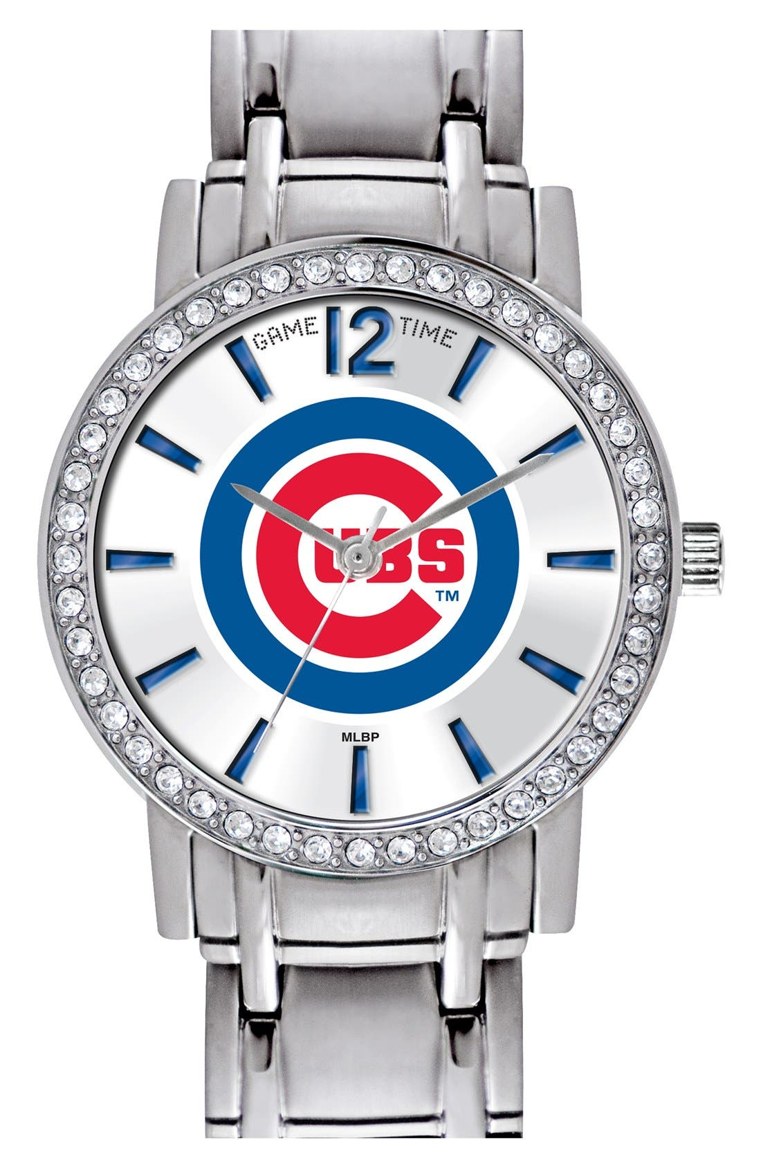 Alternate Image 1 Selected - Game Time Watches 'MLB All Star' Crystal Bezel Bracelet Watch, 32mm