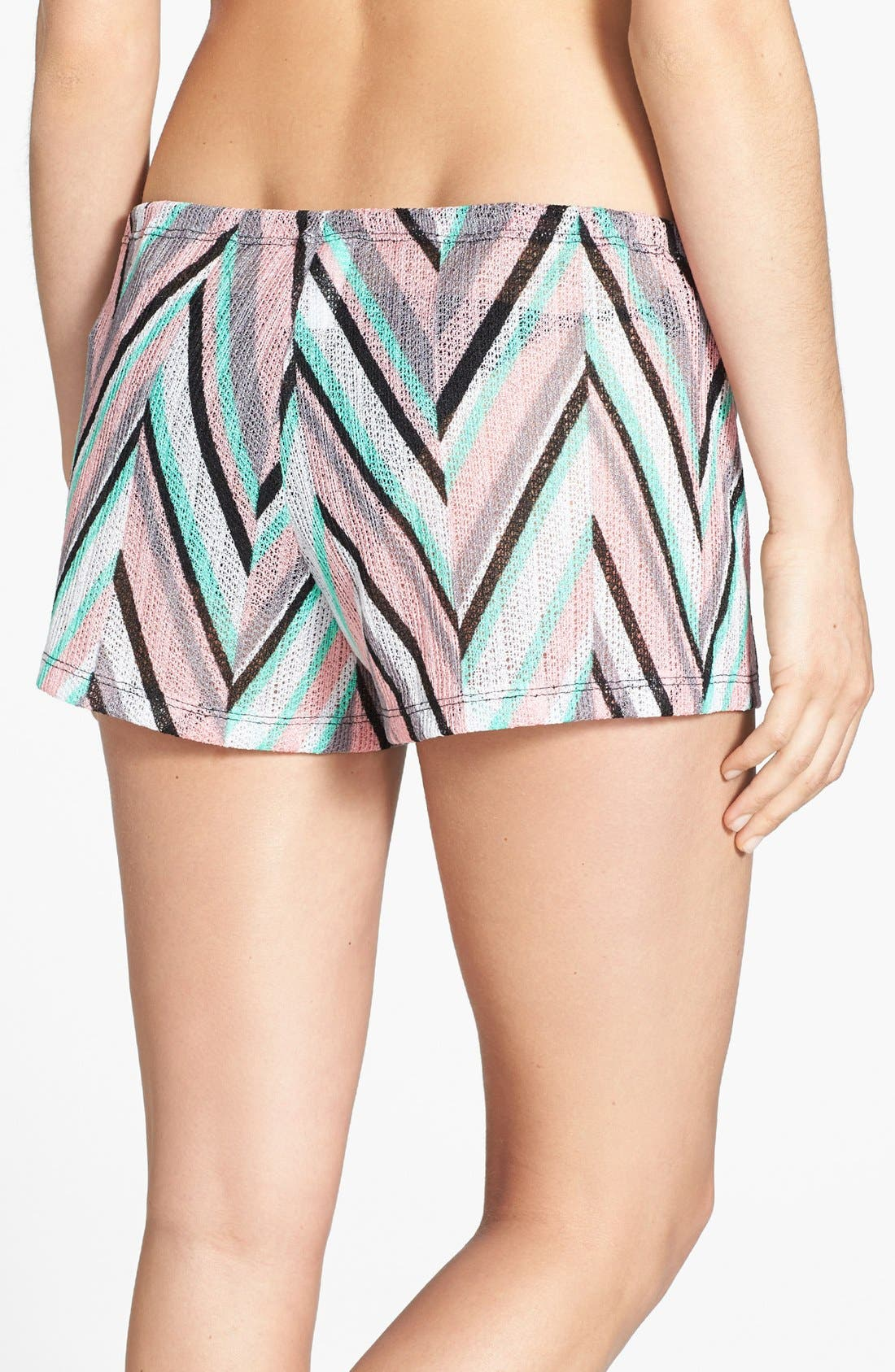 Alternate Image 2  - Becca 'Stay Connected' Chevron Cover-Up Shorts