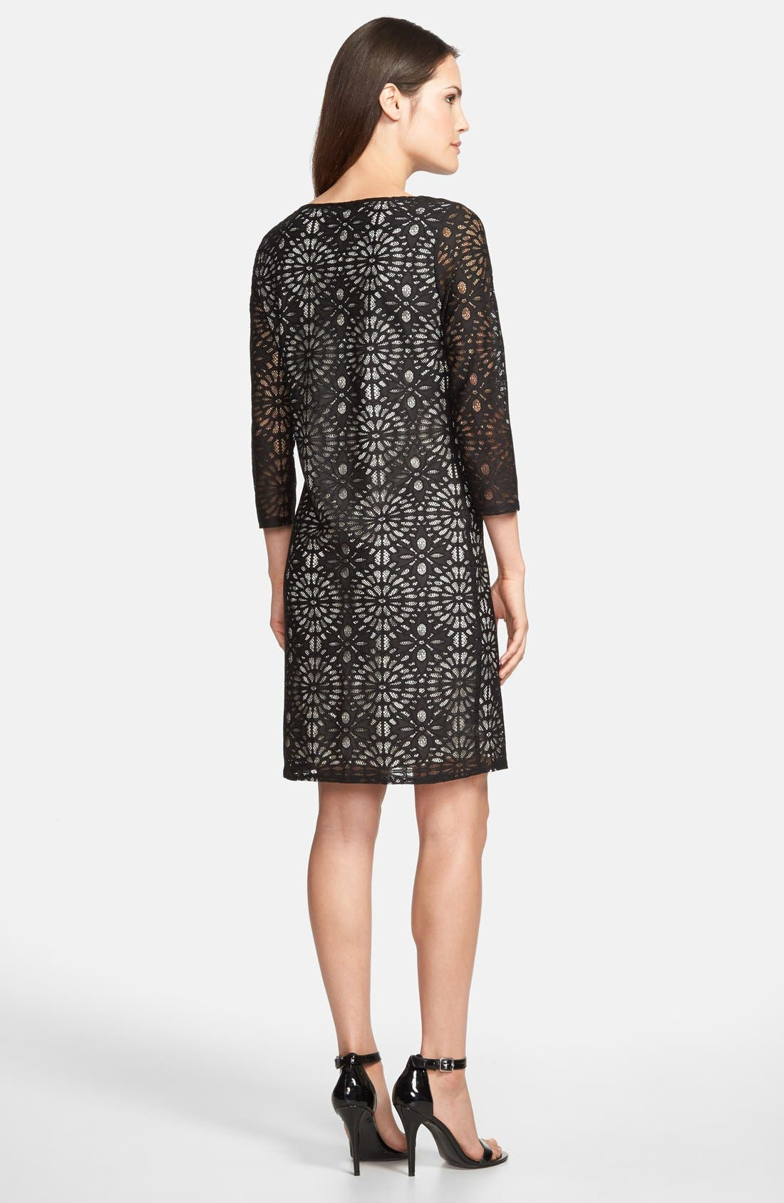 Alternate Image 2  - wallis Floral Lace Shift Dress