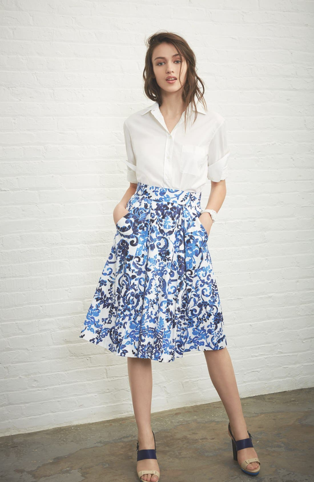 Alternate Image 5  - Milly 'Katie' Print Flare Skirt