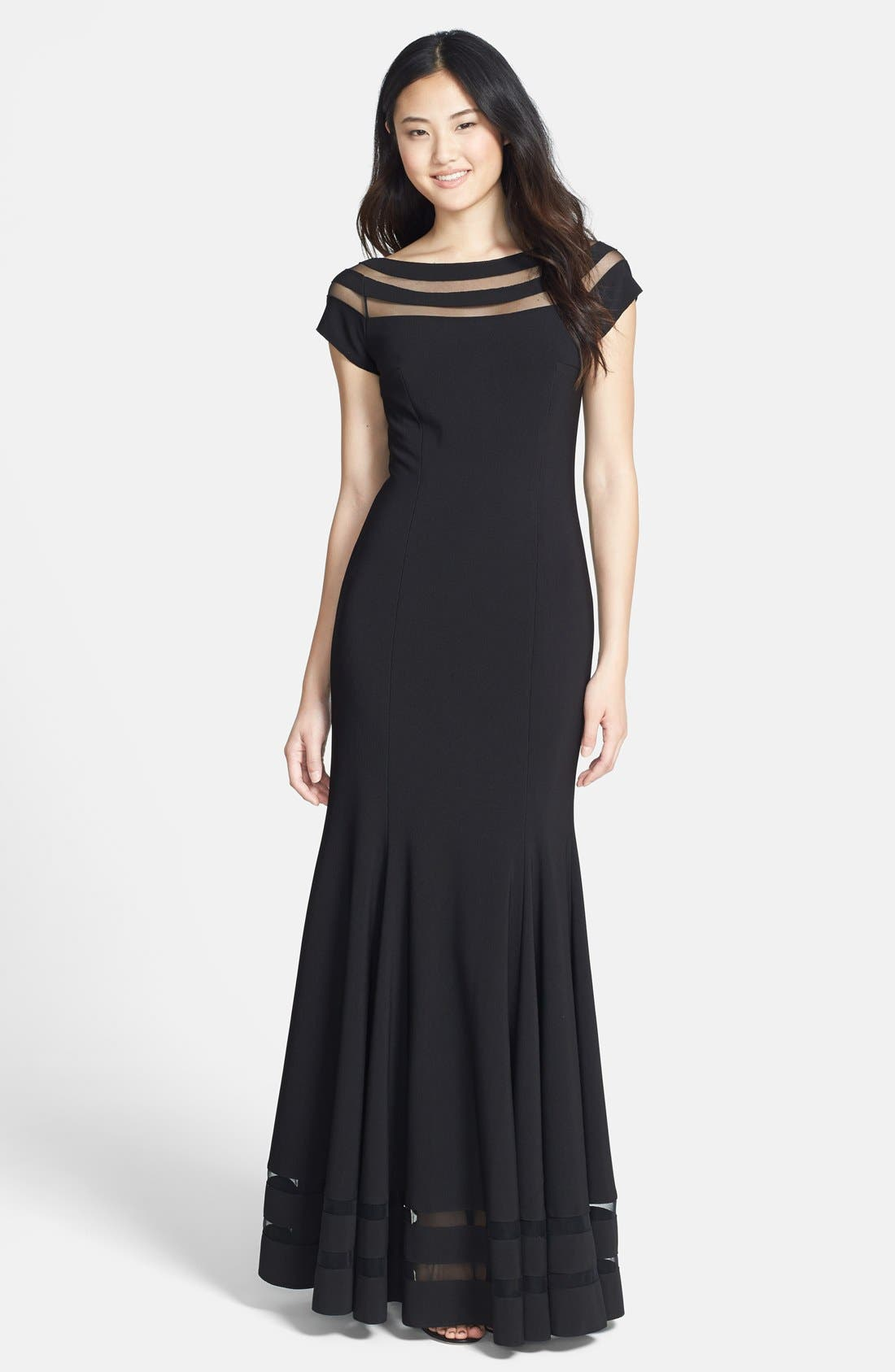 Alternate Image 1 Selected - JS Collections Illusion Mermaid Gown