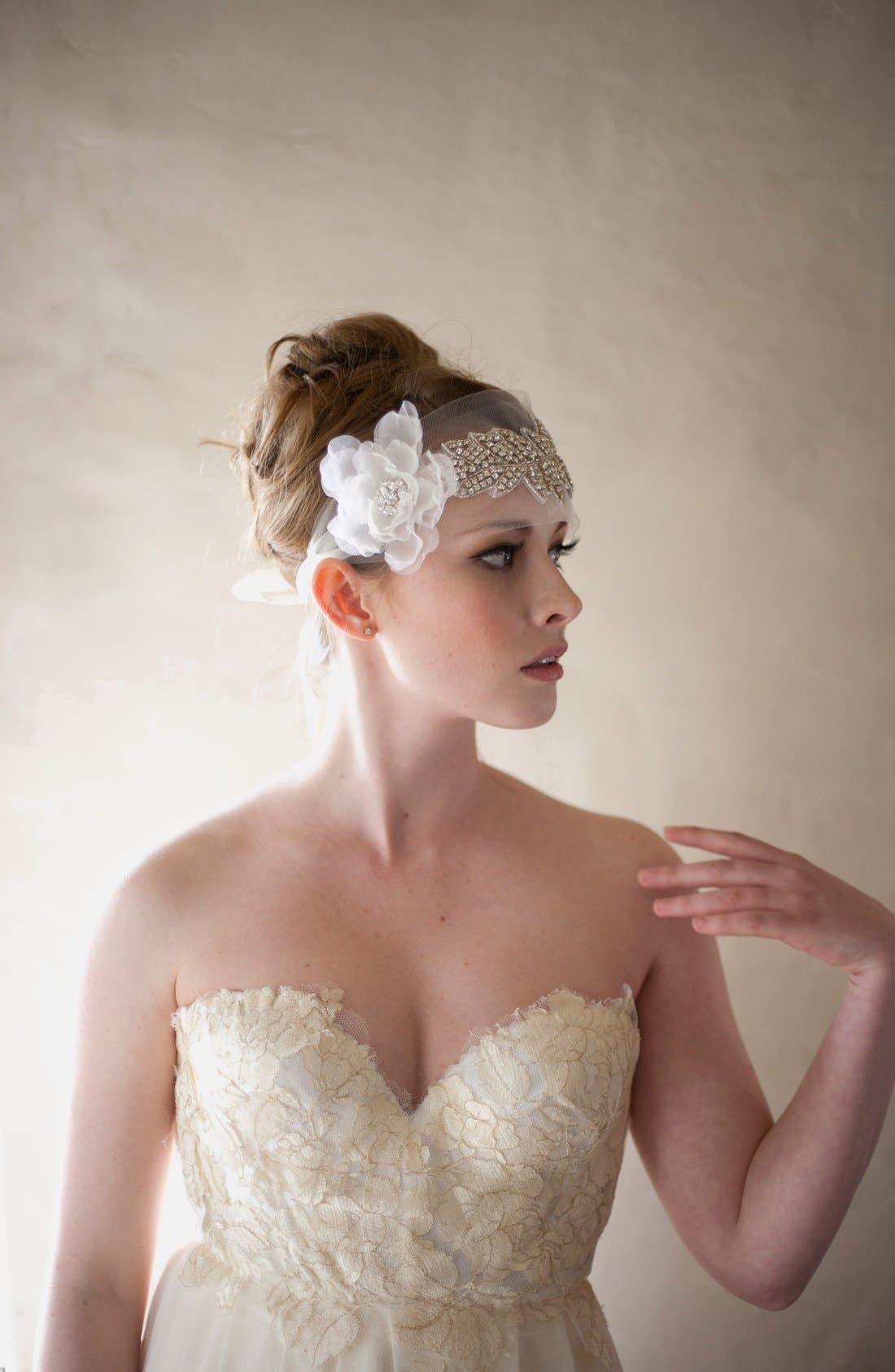 Alternate Image 4  - Serephine 'Francesca' Headpiece/Sash