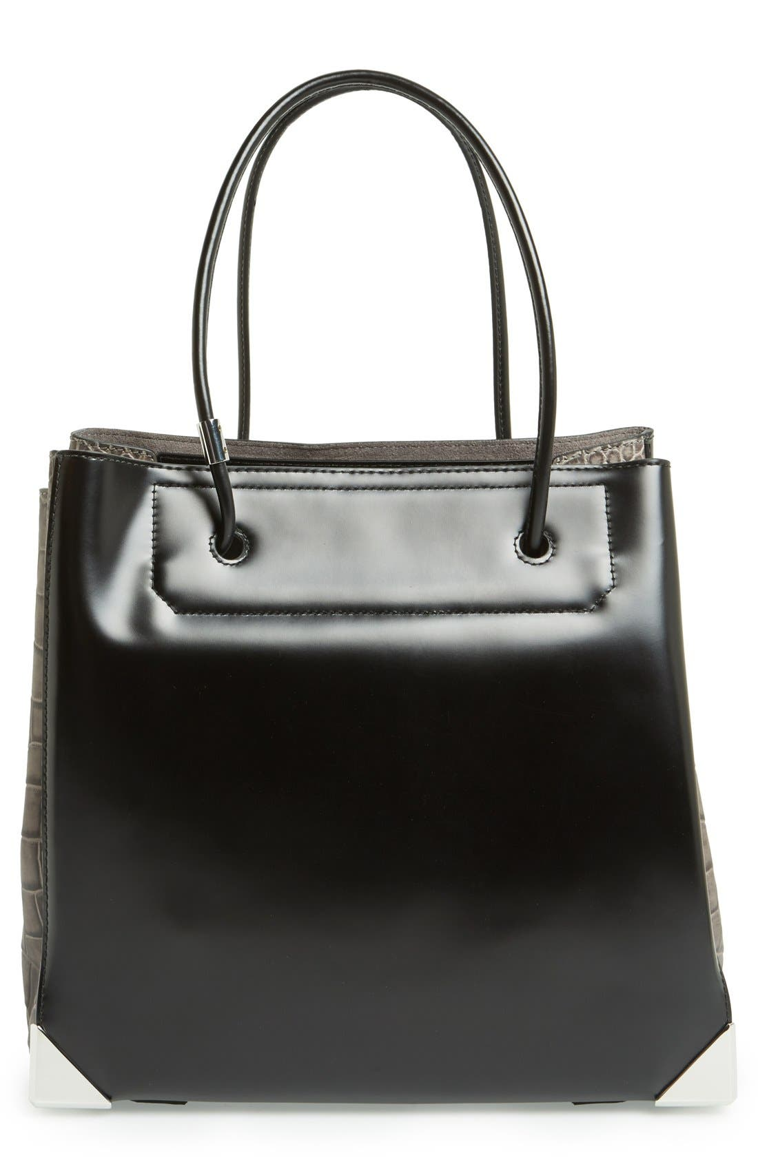 Main Image - Alexander Wang 'Large Prisma' Croc Embossed Leather Tote