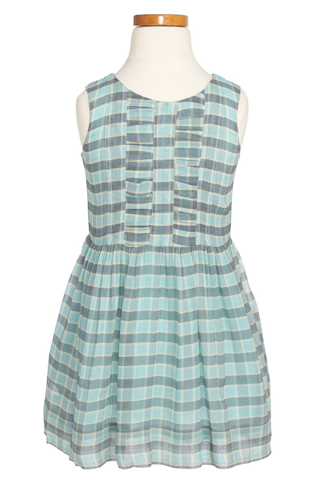 Alternate Image 2  - Burberry Ruched Silk Dress (Little Girls & Big Girls)