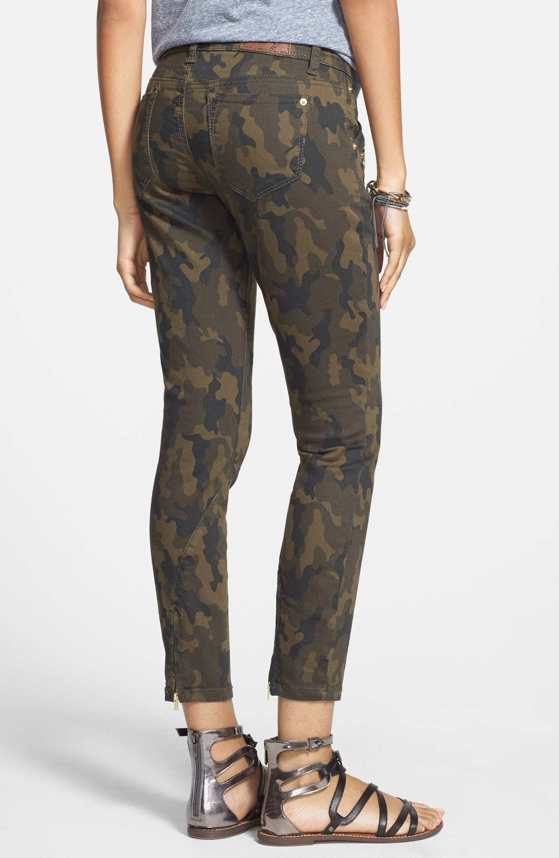 Alternate Image 2  - Standards & Practices Zip Detail Ankle Skinny Jeans (Camo Print)