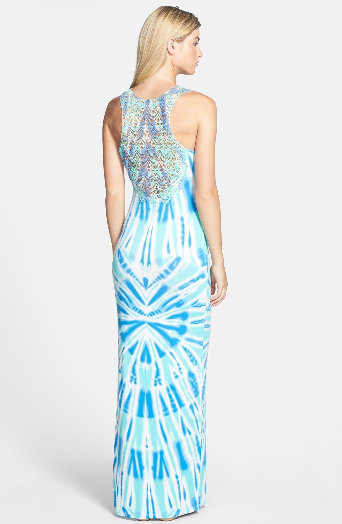 Alternate Image 2  - Felicity & Coco Crochet Back Tie Dye Maxi Dress (Regular & Petite) (Nordstrom Exclusive)