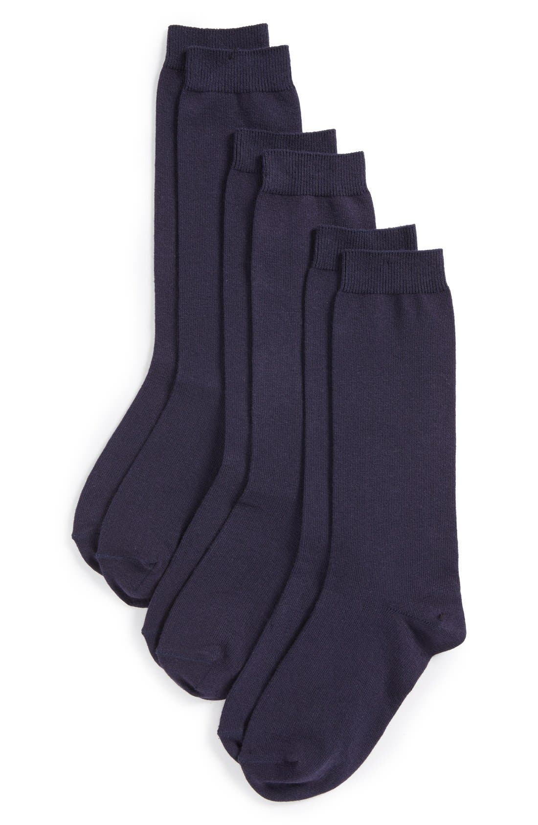 Nordstrom 3-Pack Knee High Socks (Little Kid & Big Kid)